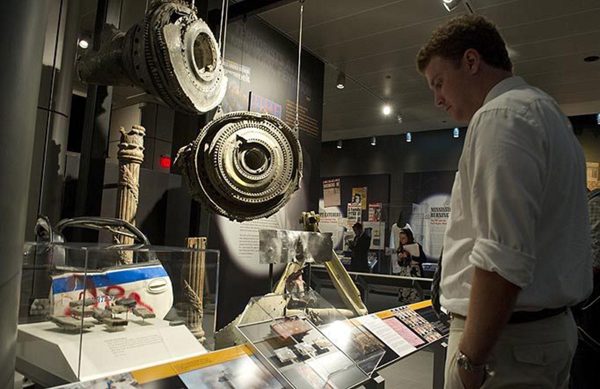 Objetos exhibidos en la muestra permanente del Museo y Memorial del 11 de septiembre