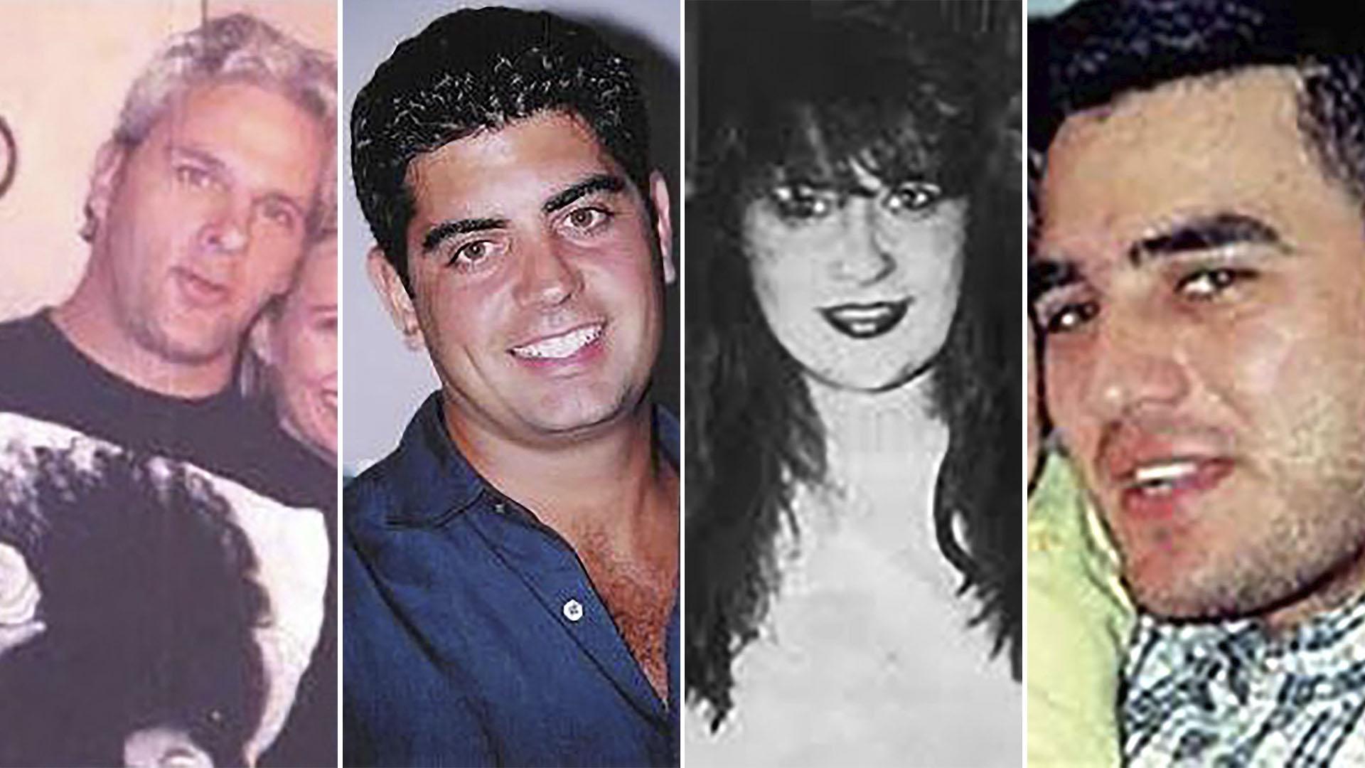 Cuatro de las cinco víctimas argentinas en el atentado: Pedro Grehan, Sergio Villanueva, Gabriela Waisman y Mario Santoro