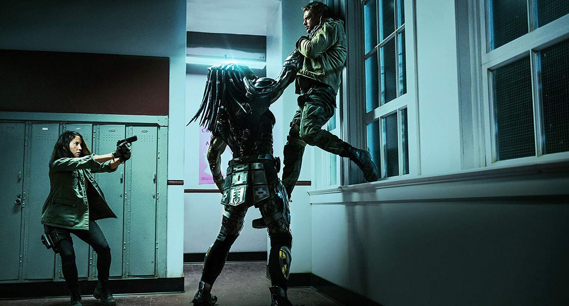"""Olivia Munn y Boyd Holbrook en""""The Predator"""" (20th Century Fox)"""
