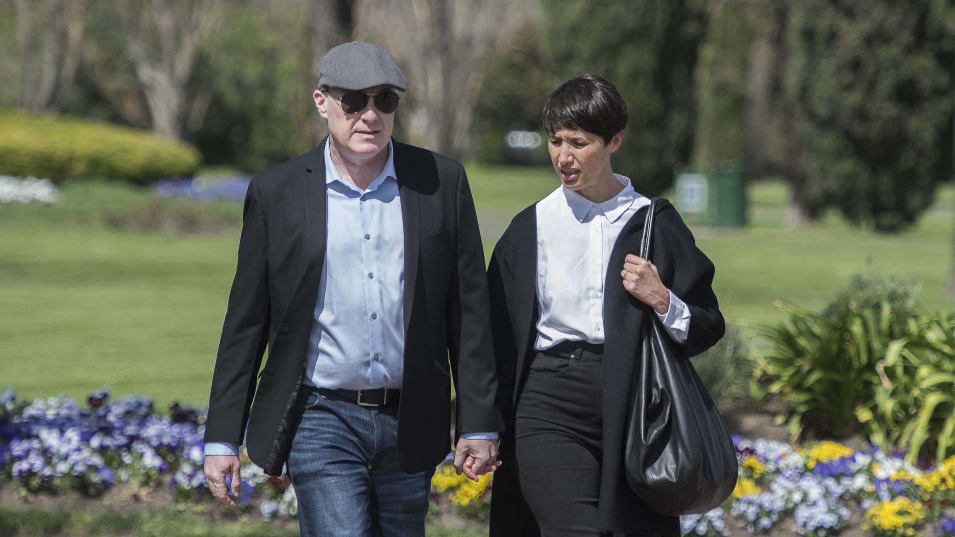 Javier Furgang y su esposa, Silvina Vicente