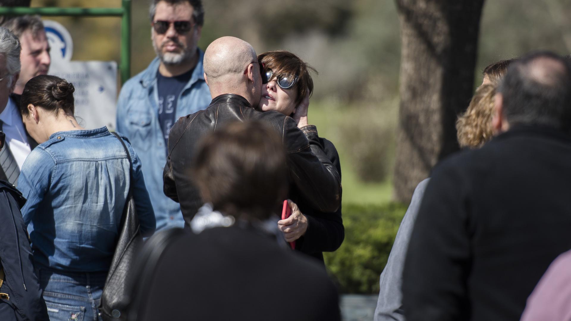 La actriz recibió el afecto de Rubén Torrente, su primera pareja y padre de Florencia, su hija