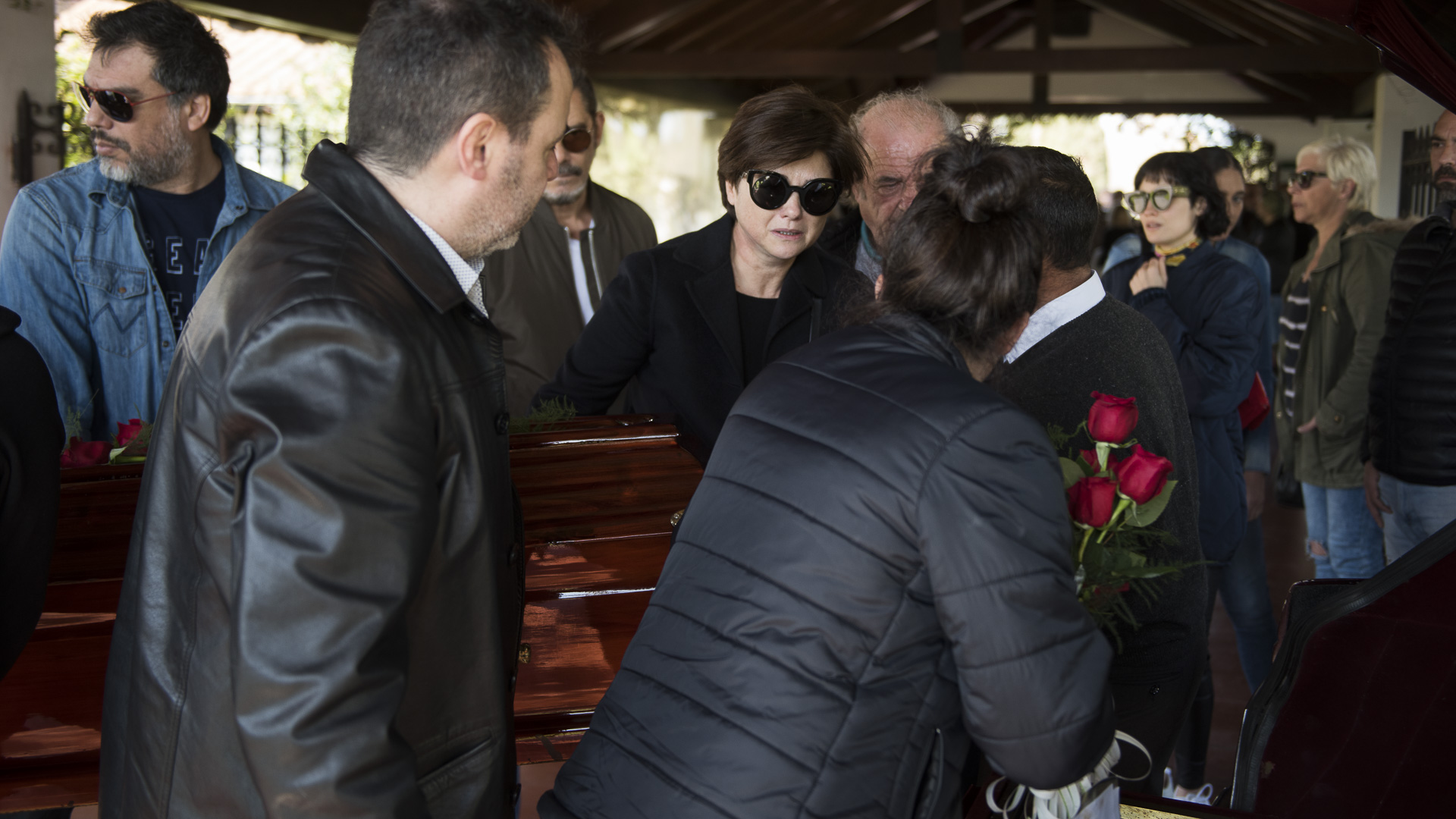 Araceli González despidió a su mamá, Rosa Monteferrario, que murió el lunes tras luchar 4 años contra el lupus (Fotos: Adrián Escandar)