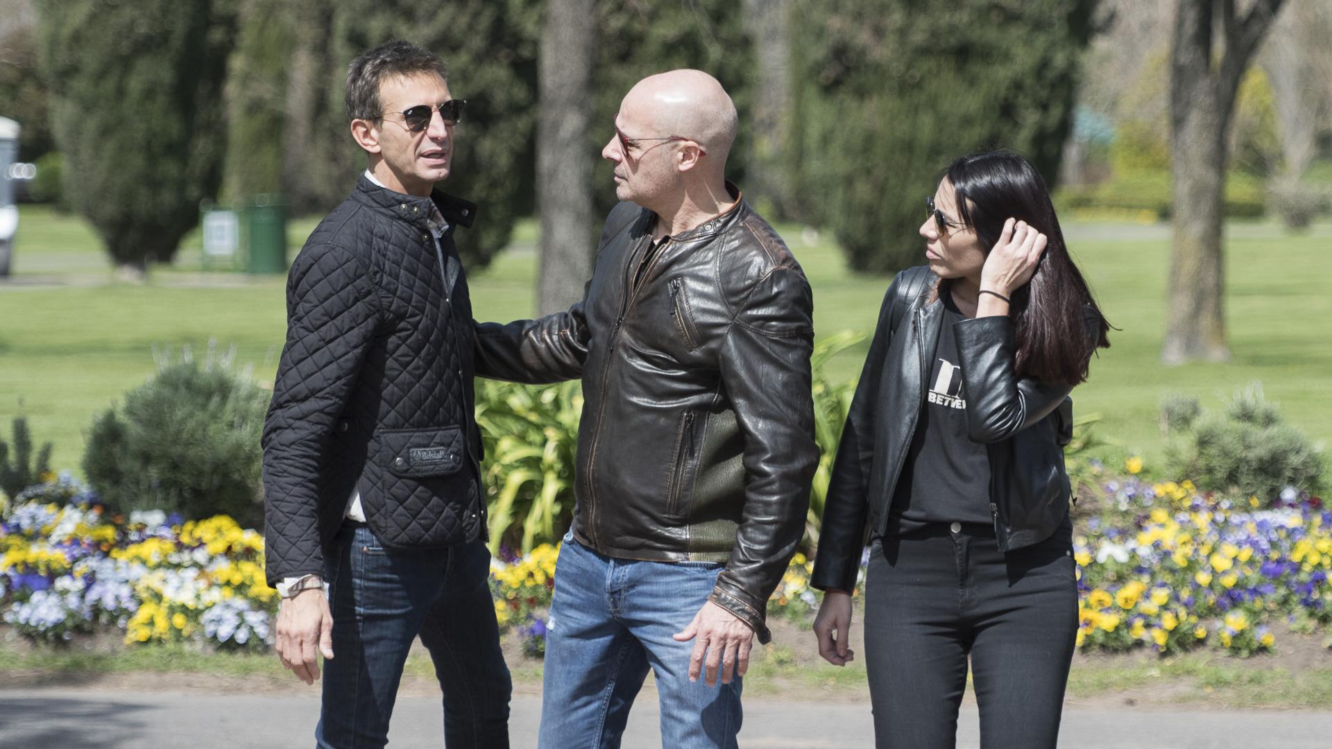 Rubén Torrente acompañó a su ex mujer y su hija Florencia en el adiós a Rosita
