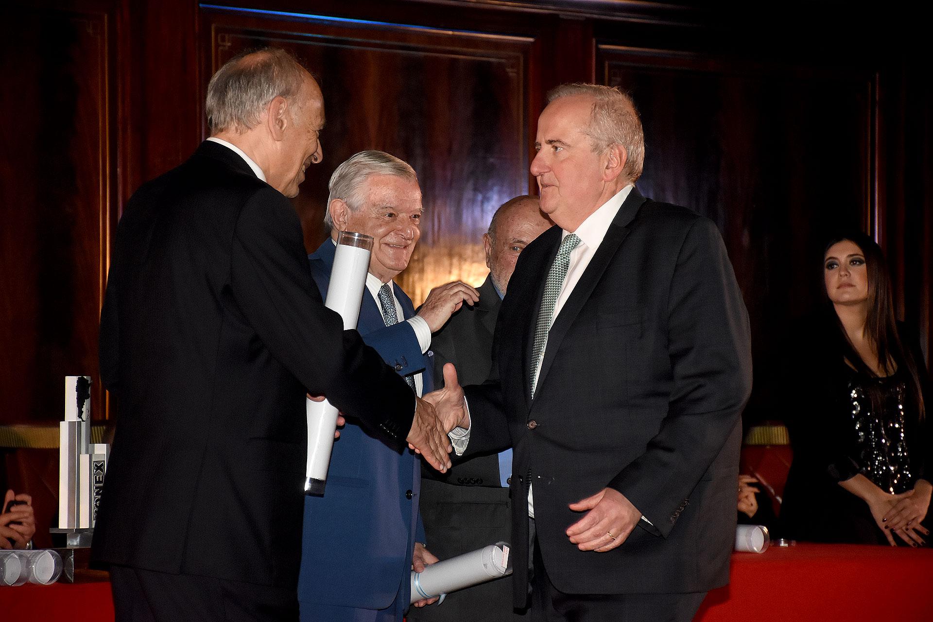 Luis Ovsejevich junto a Juan Carlos Bagó y Luis Pagani