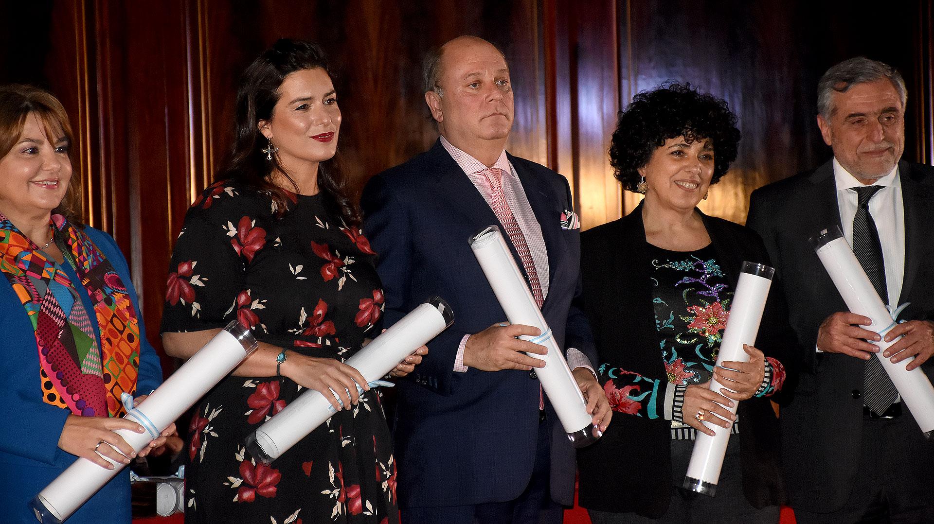 Claudia Álvarez Argüelles, Inés Berton, Martín Cabrales, la representante de Marcelo Salas Martínez y José Alberto Zuccardi