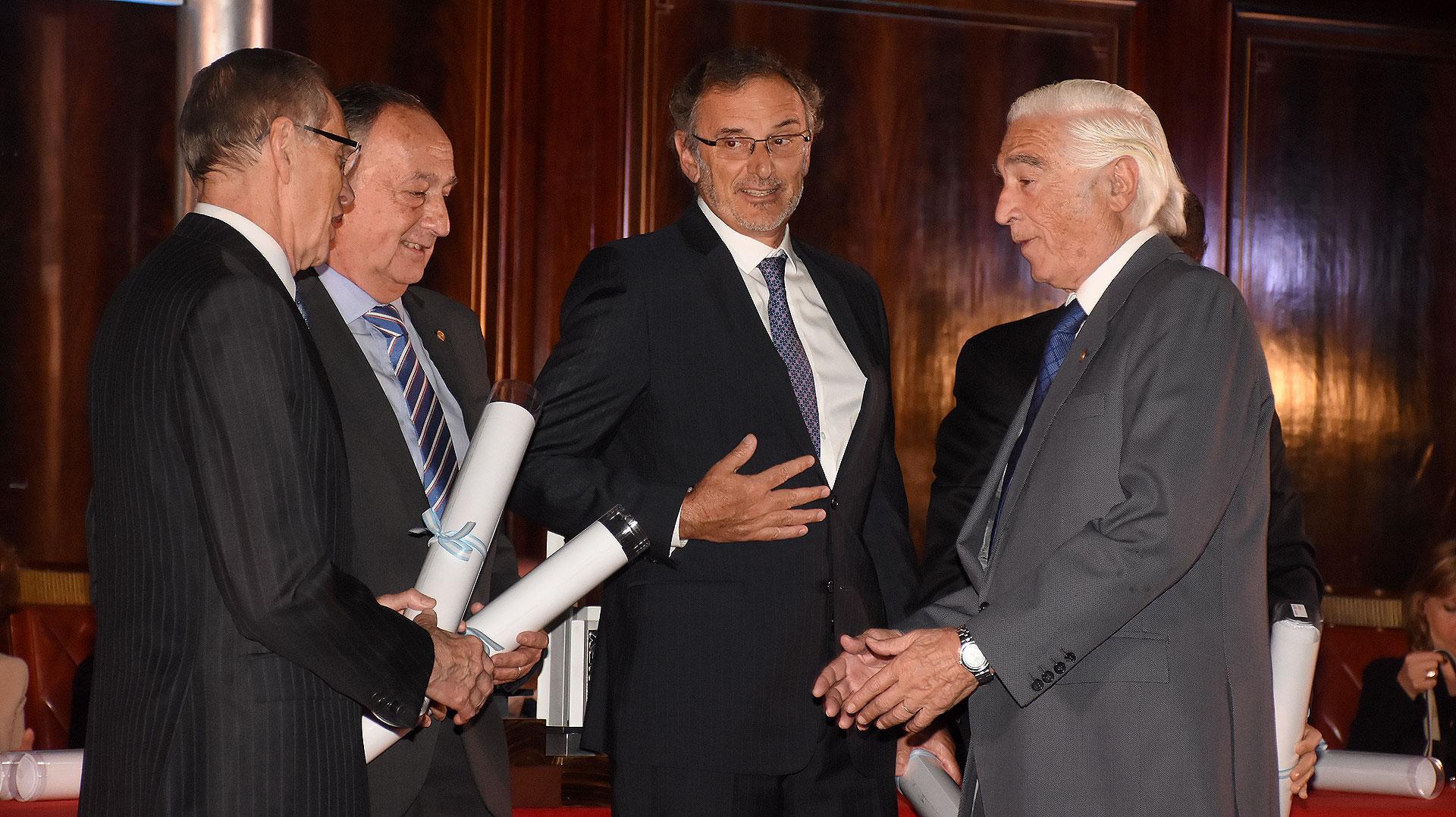 Adalberto Rodríguez Giavarini junto a Miguel Acevedo, Claudio Cesario y Luciano Miguens