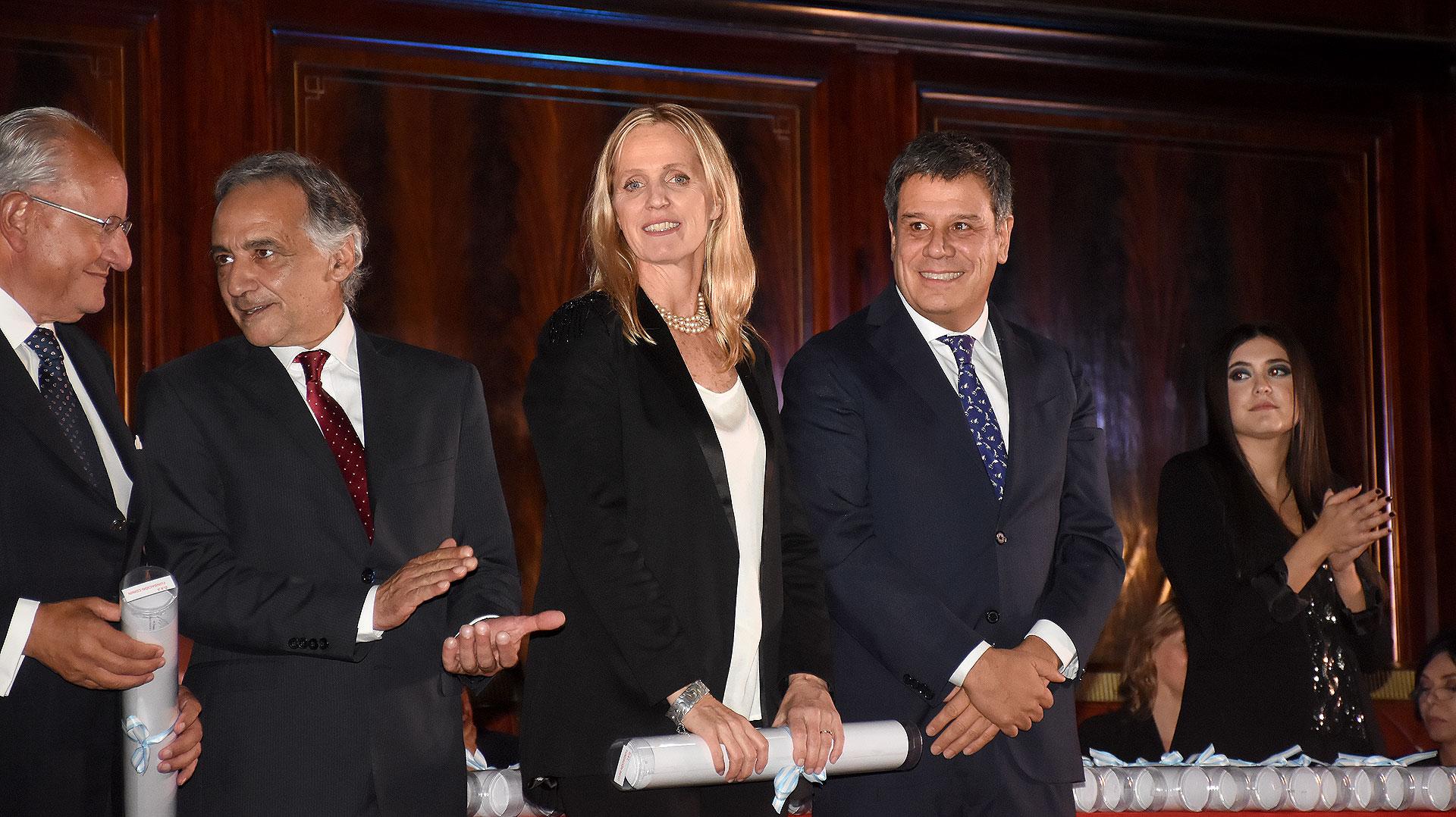 Teresa Torralva y Facundo Manes de la Fundación INECO