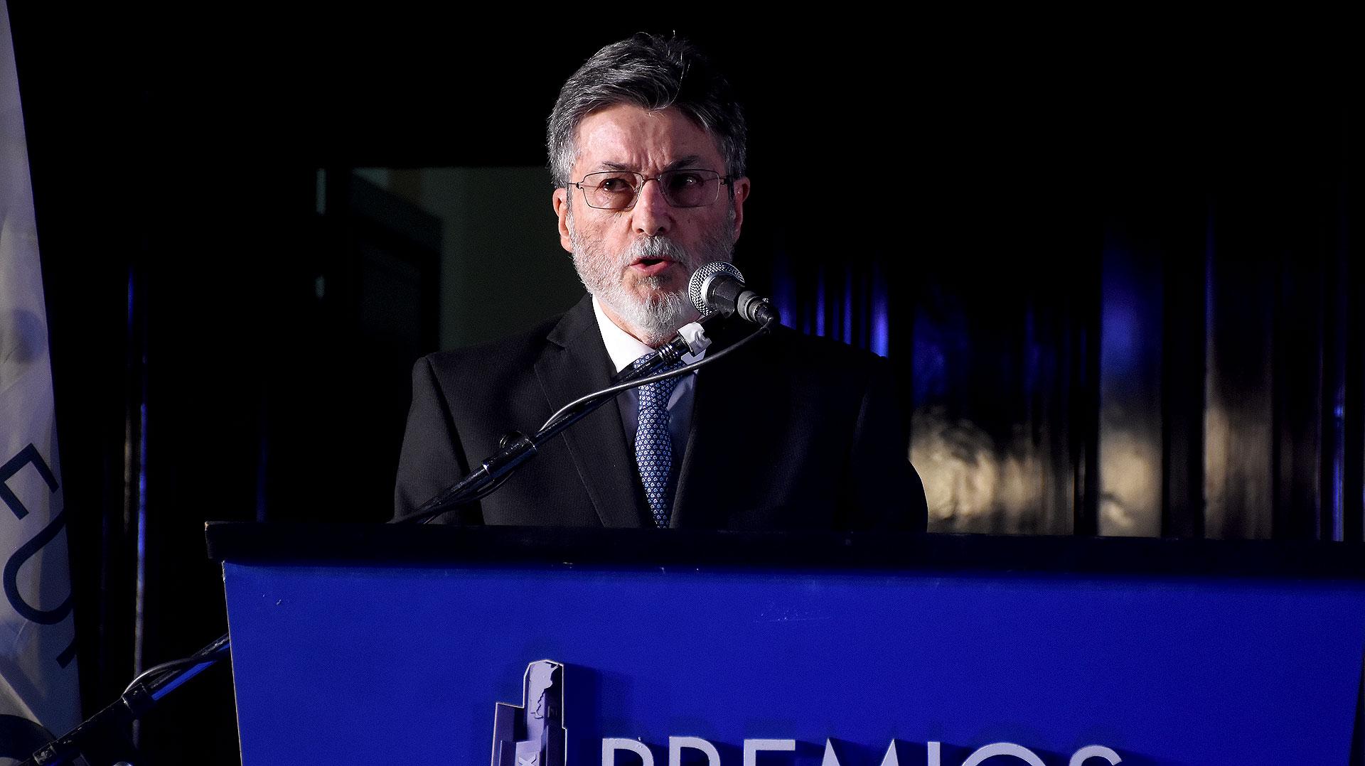 Alberto Abad dirigió unas palabras de agradecimiento en representación de todos los premiados