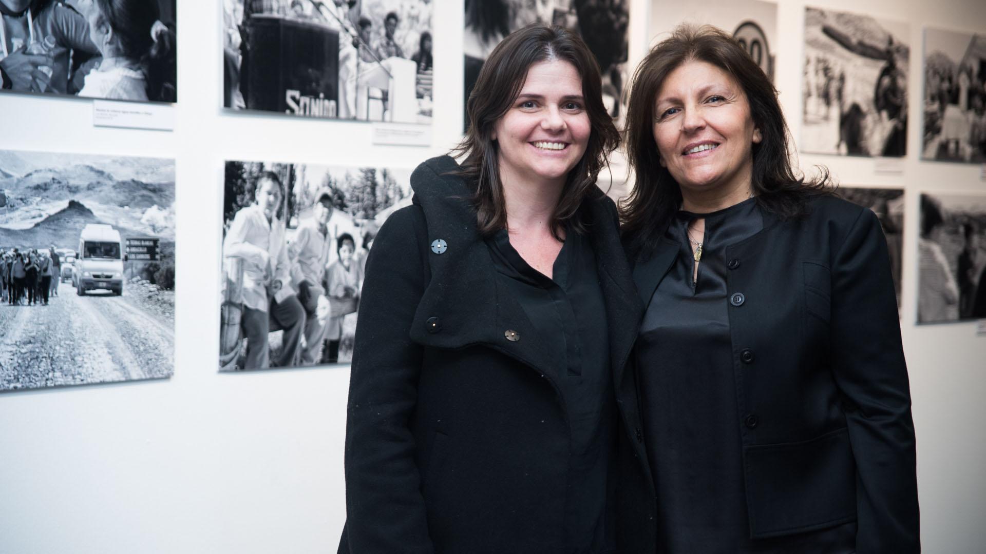 Cecilia Stanley, jefa de Gabinete del ministerio de Desarrollo Social de la Nación junto a Alicia Daher presidente de la fundación