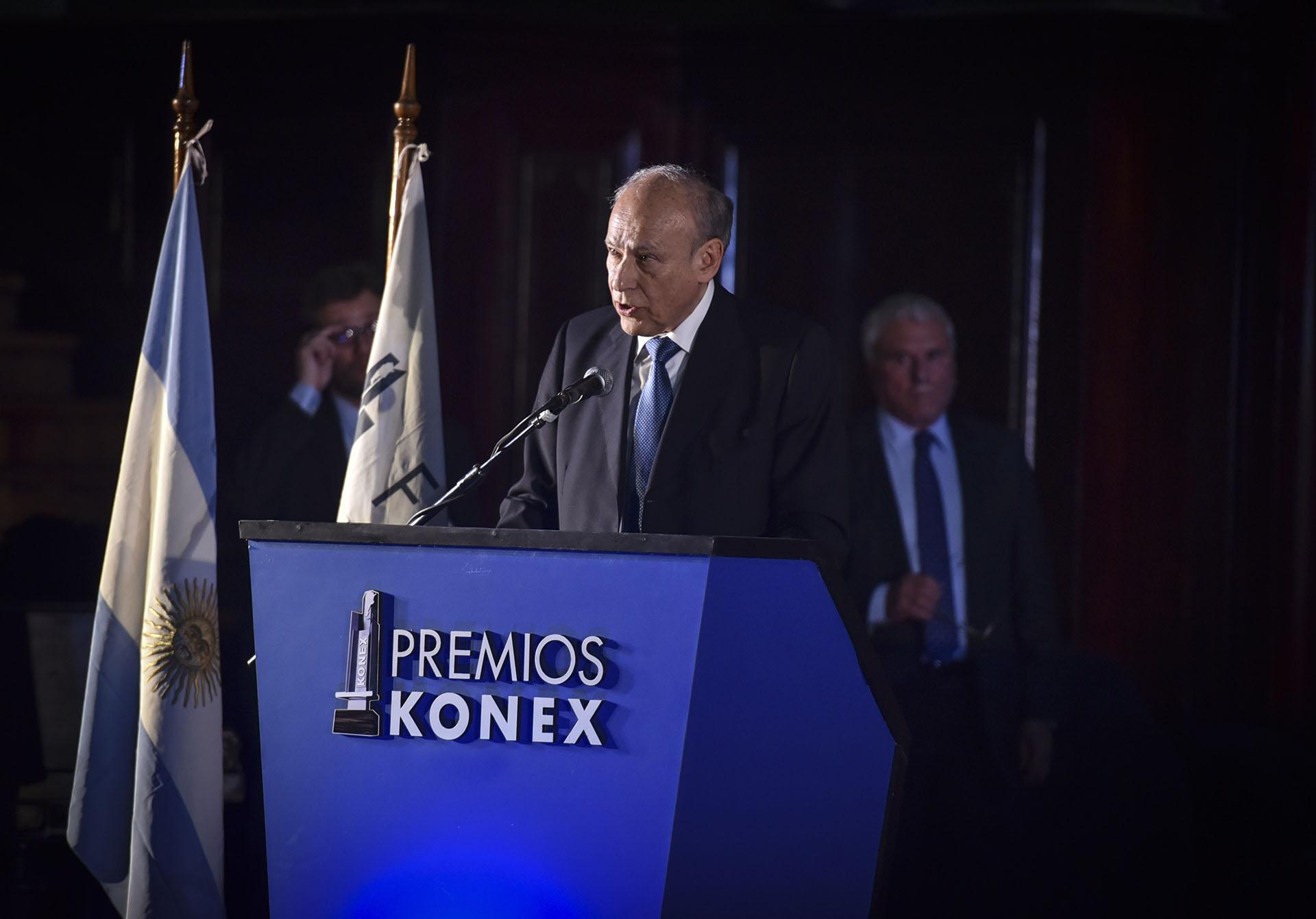 El presidente de la Fundación Konex, Luis Ovsejevich. Cada año y desde 1980, la Fundación Konex premia a una actividad diferente del amplio espectro cultural de la nación, en ciclos que se repiten cada 10 años