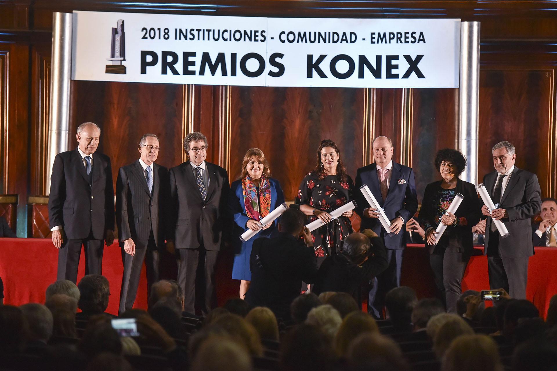 Empresarios PyME: Claudia Álvarez Argüelles (Álvarez Argüelles Hoteles), Inés Berton (Tealosophy), Martín Cabrales (Cabrales), Marcelo Salas Martínez (Café Martínez) y José Alberto Zuccardi (Familia Zuccardi)