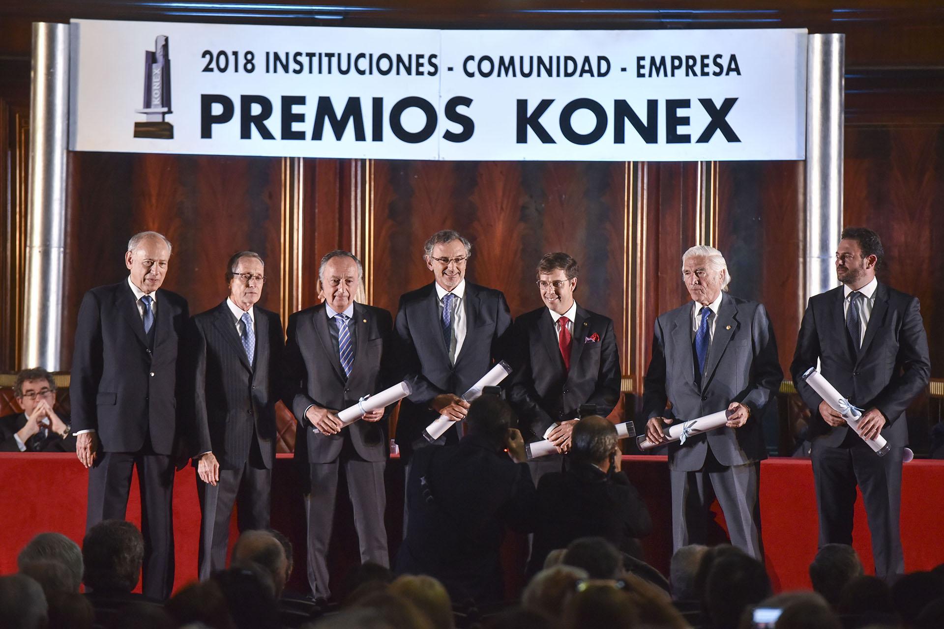 Dirigentes Empresarios: Miguel Acevedo, Claudio Cesario, Javier Goñi, Luciano Miguens y José Urtubey
