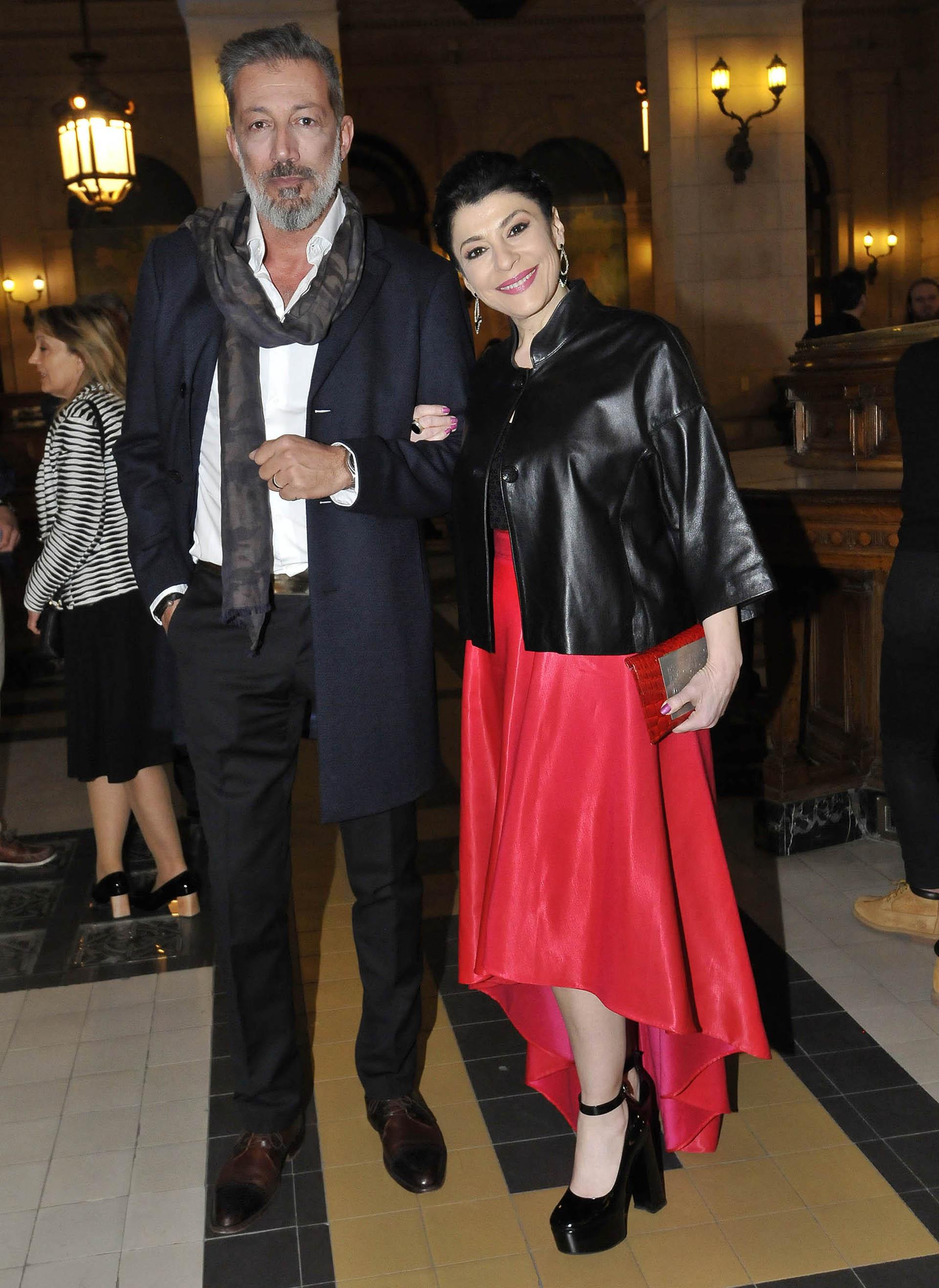 Carolina Papaleo y su pareja, Miguel Cuberos