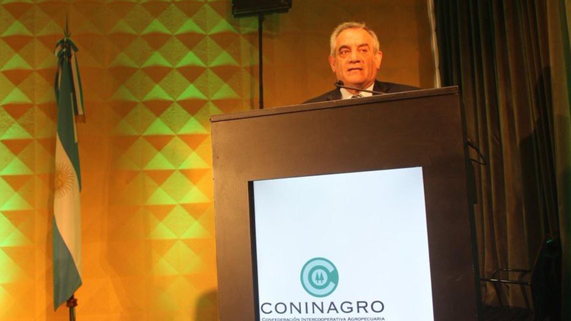 El presidente de Coninagro, Carlos Iannizzotto