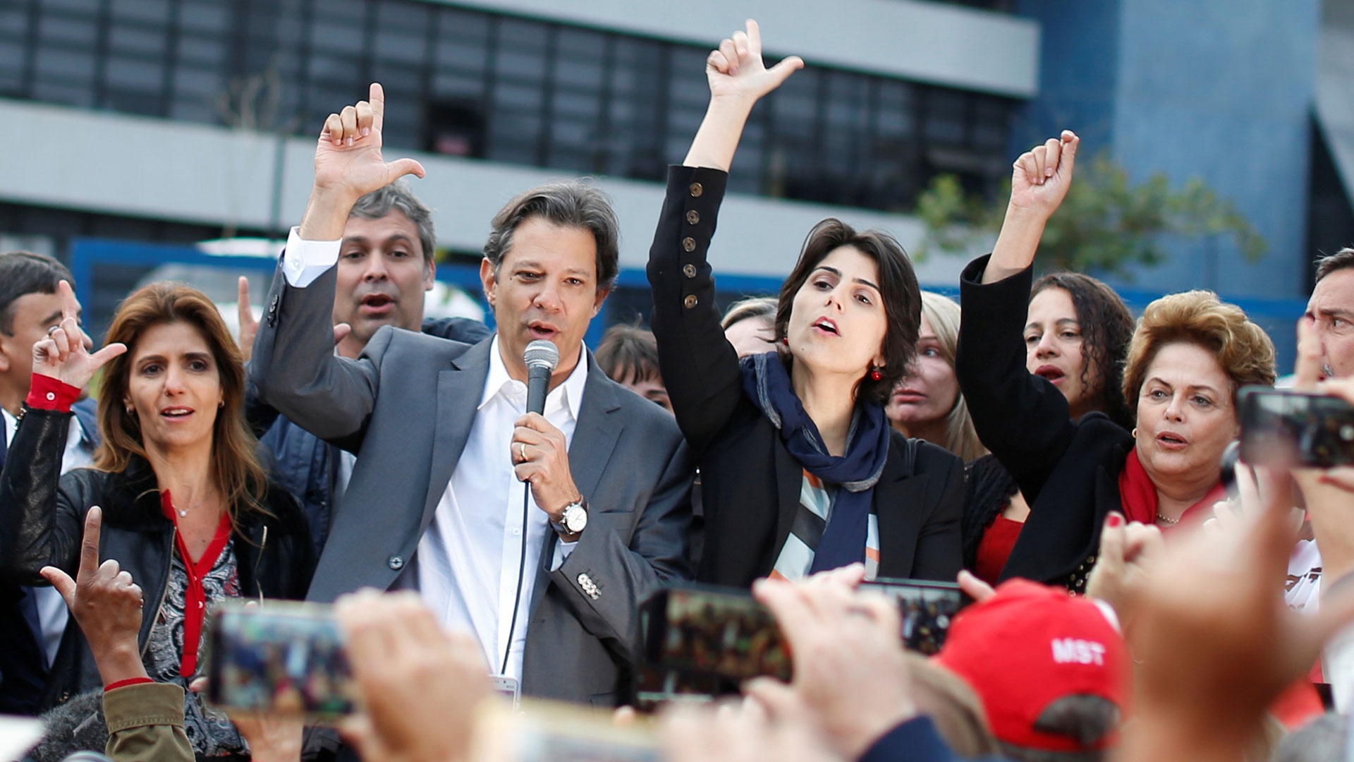 Fernando Haddad lanzó oficialmente su candidatura a presidente (Reuters)