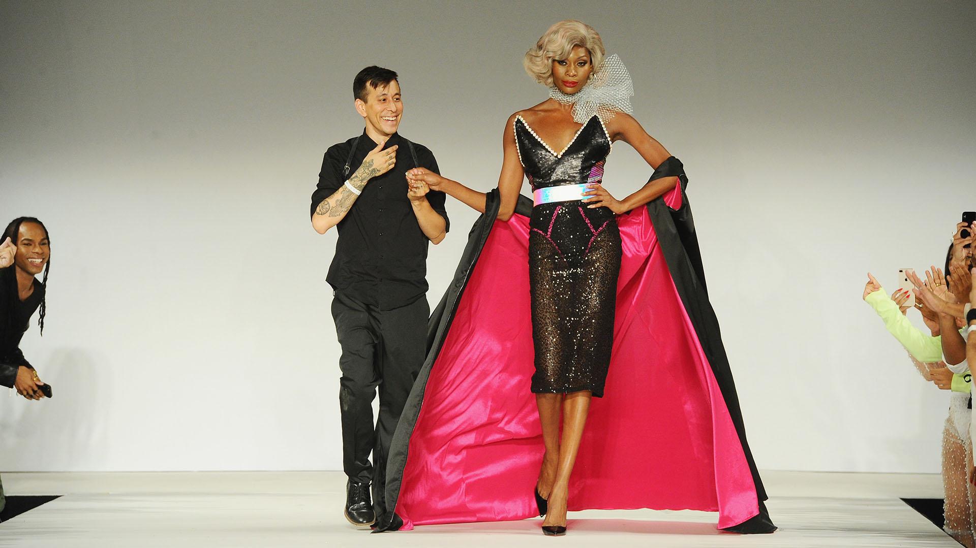 El diseñador de la firma: Marco Marco hizo historia con su desfile con modelos trans en el marco de la Semana de la Moda de Nueva York (Jennifer Graylock/Getty Images for Marco Marco/AFP)