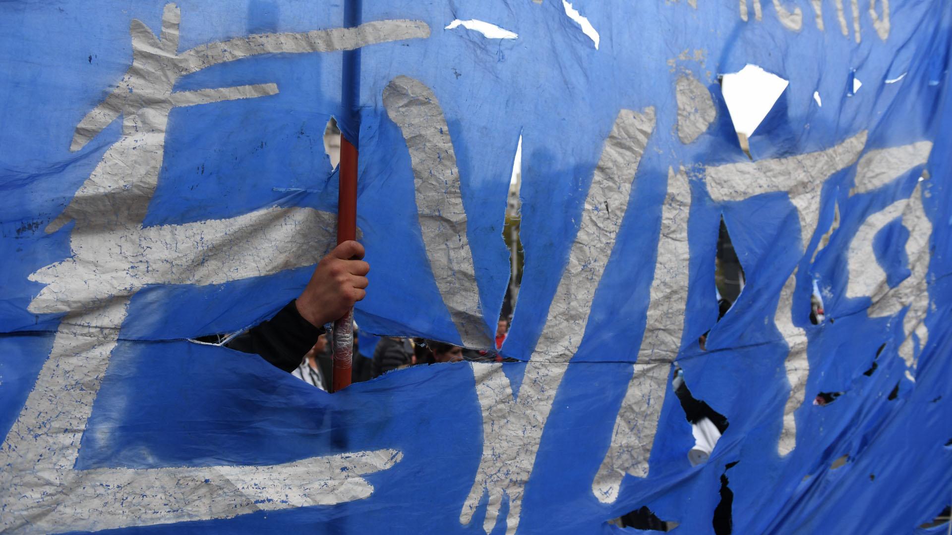 El Movimiento Evita formó parte de la manifestación y las ollas populares