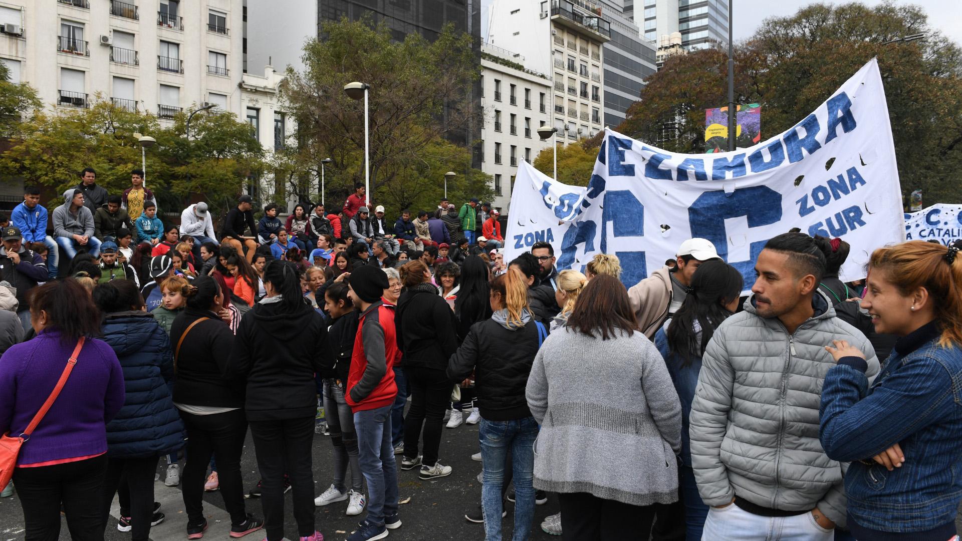 La manifestación duró cerca de seis horas