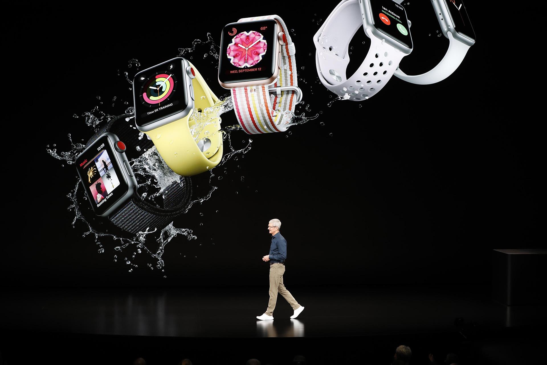 Apple Watch, el primer dispositivopresentado enel evento anual de 2018 (Reuters)