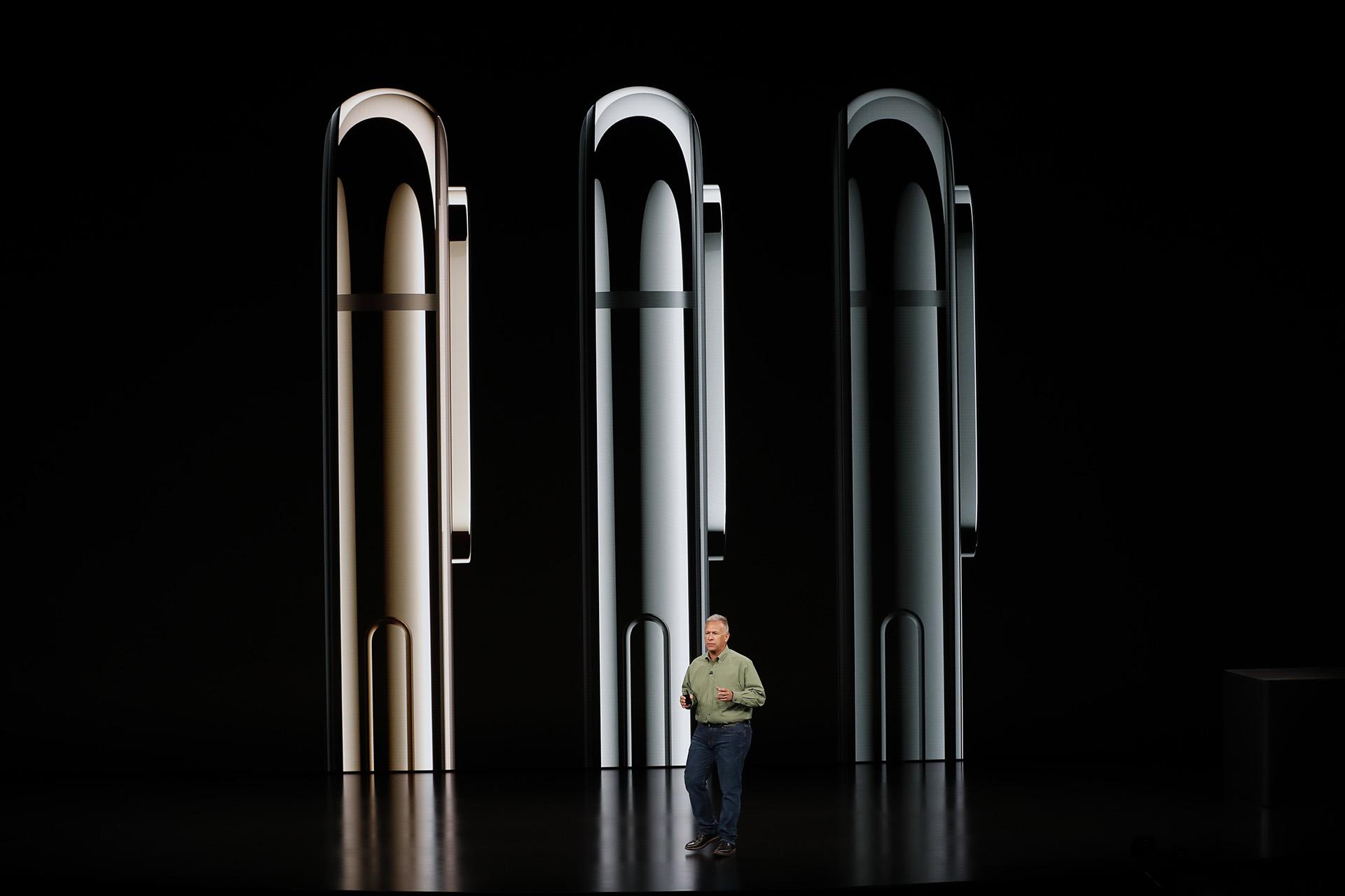 Philip W. Schiller, vice president senior de Apple, presentó los iPhone XS, XS Max y Xr (Reuters)