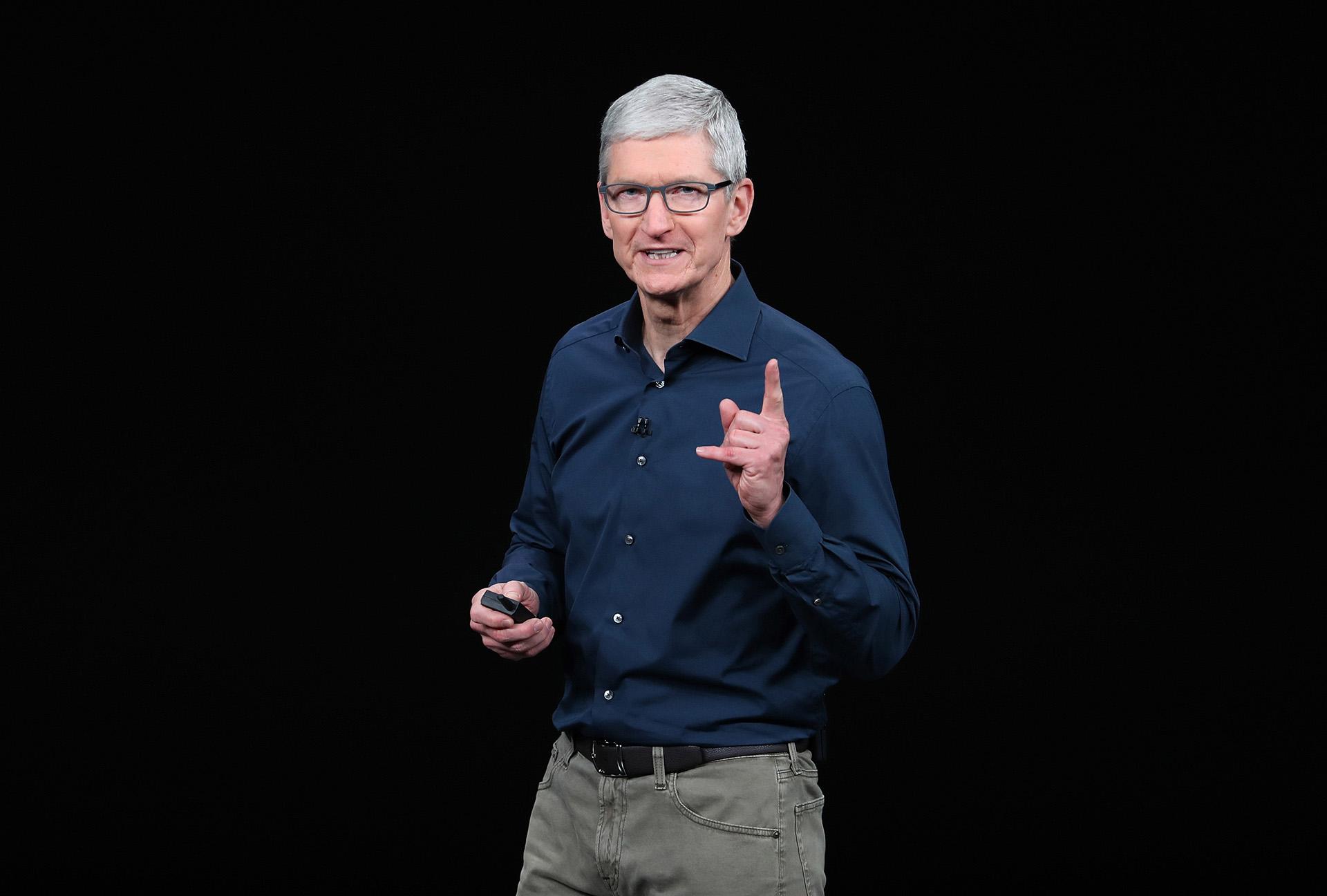 Tim Cook, CEO de Apple (AFP)