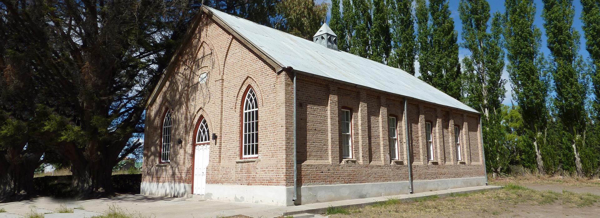 Una de las capillas galesas de Gaiman, Chubut (Gentileza Argentina Visión)