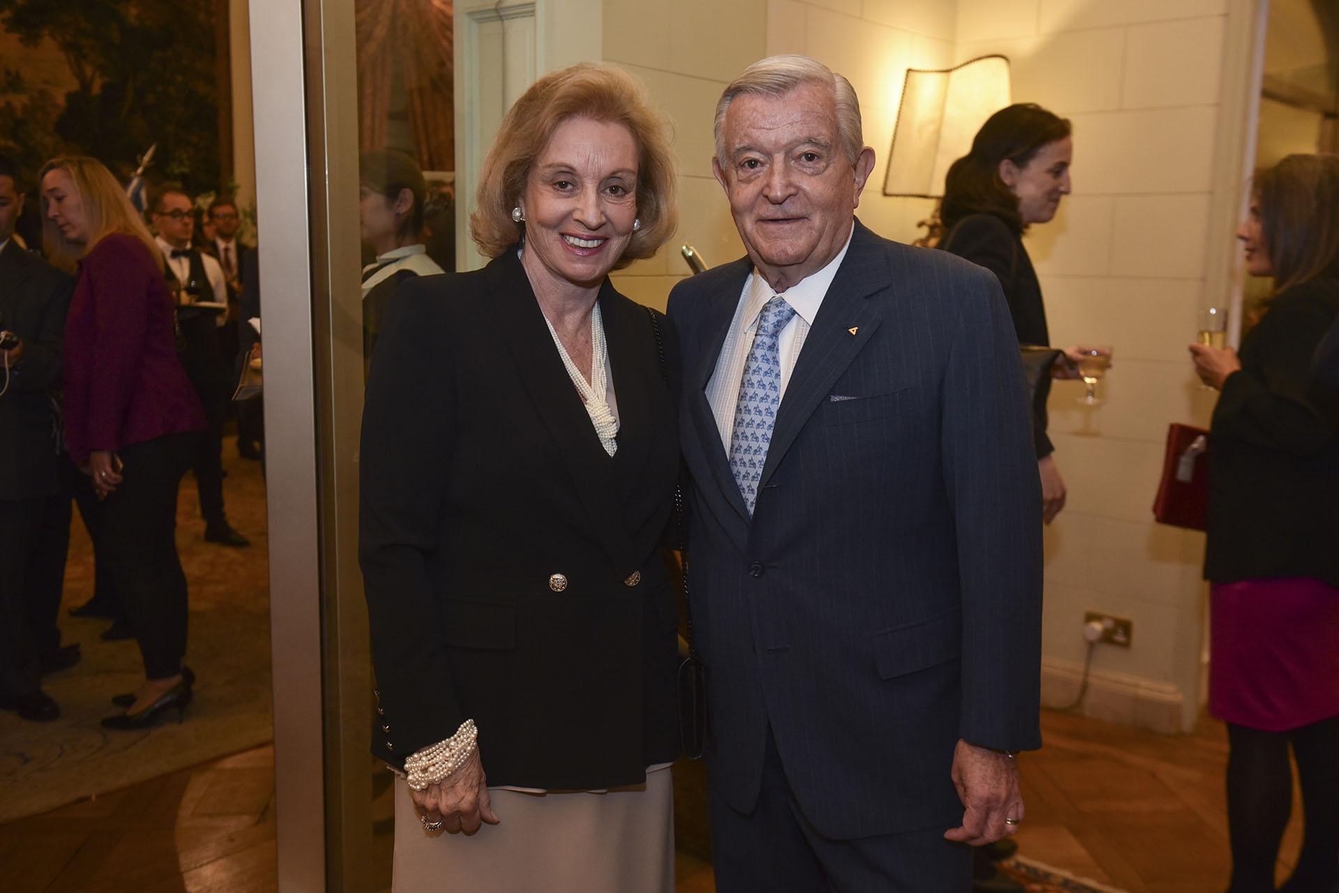 Juan Carlos Bagó y su mujer Miriam. El empresario fue distinguido en la disciplina Empresarios de la Industria