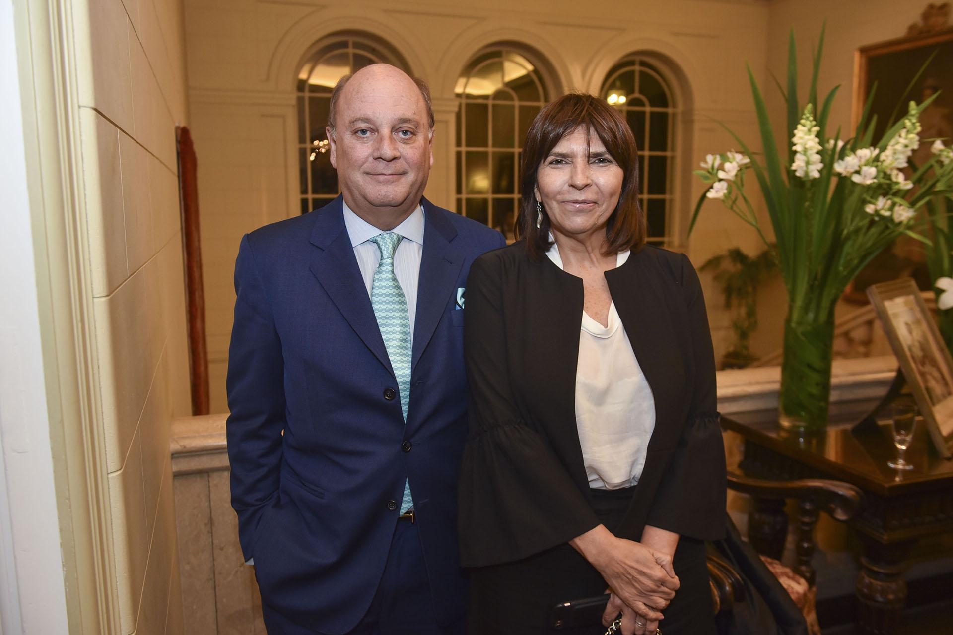El empresario Martín Cabrales y la periodista Silvia Mercado
