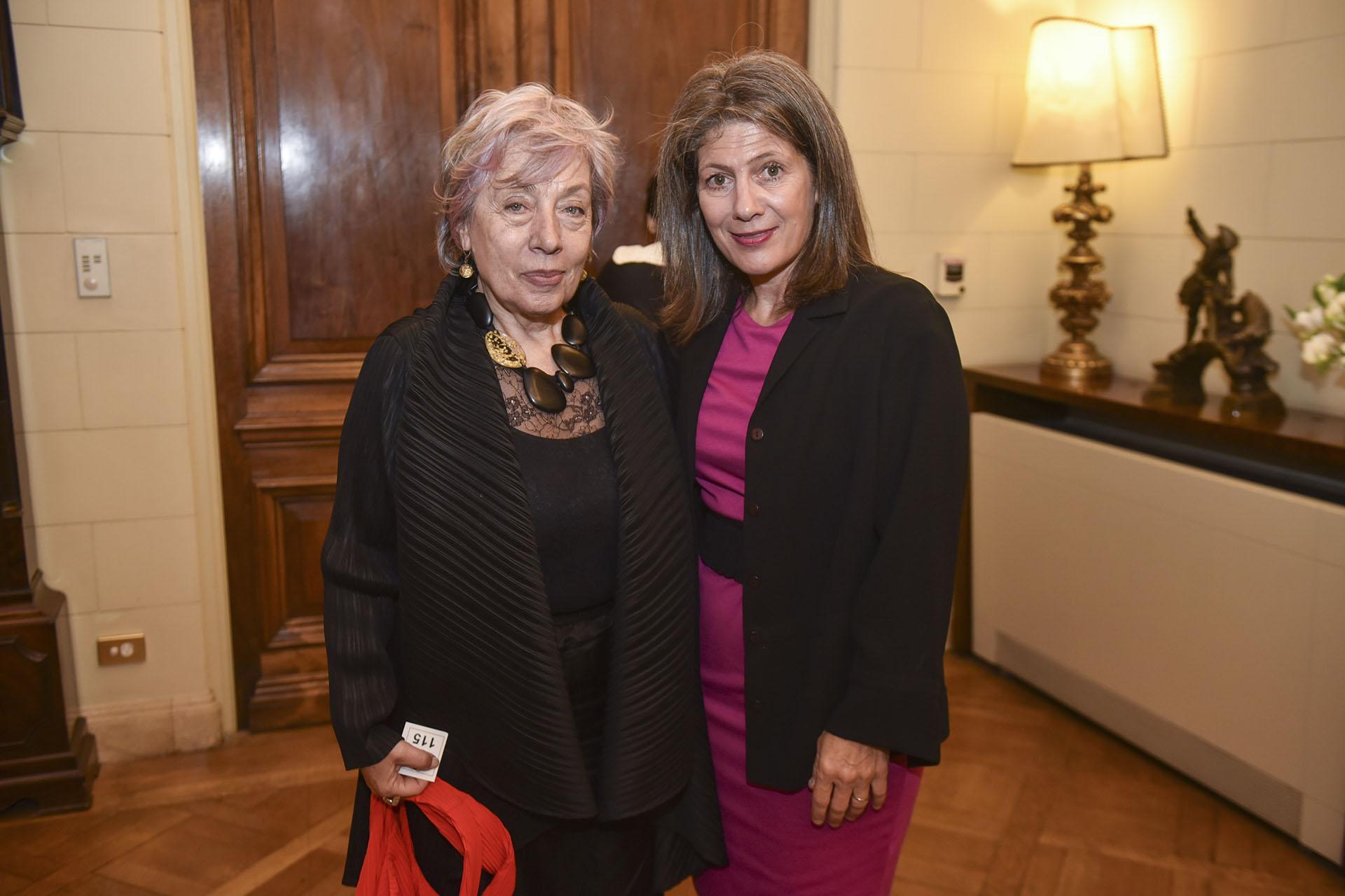 Norma Morandini, directora del Observatorio de Derechos Humanos del Senado, y Martine Kent