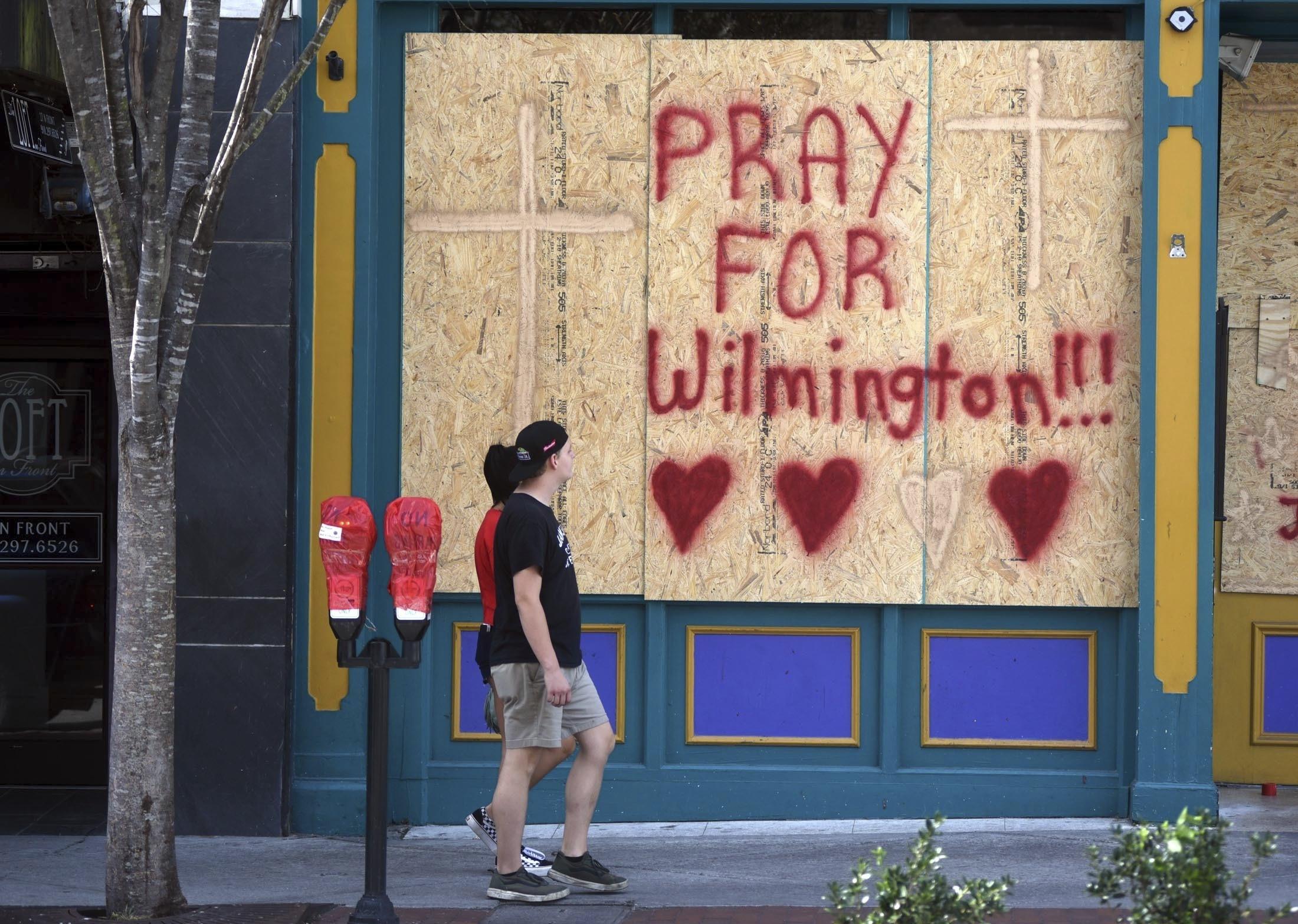 """""""¡Recen por Wilmington!"""", señala uno de los mensajes. La localidad costera, en Carolina del Norte, será una de las primeras en recibir los embates de Florence"""