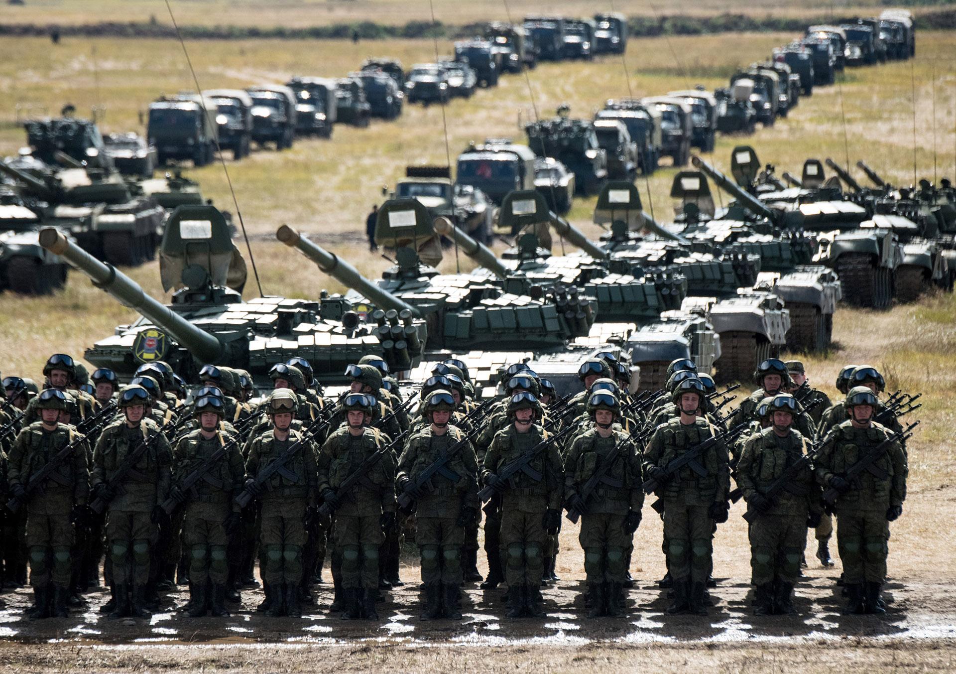 Tropas del ejército ruso