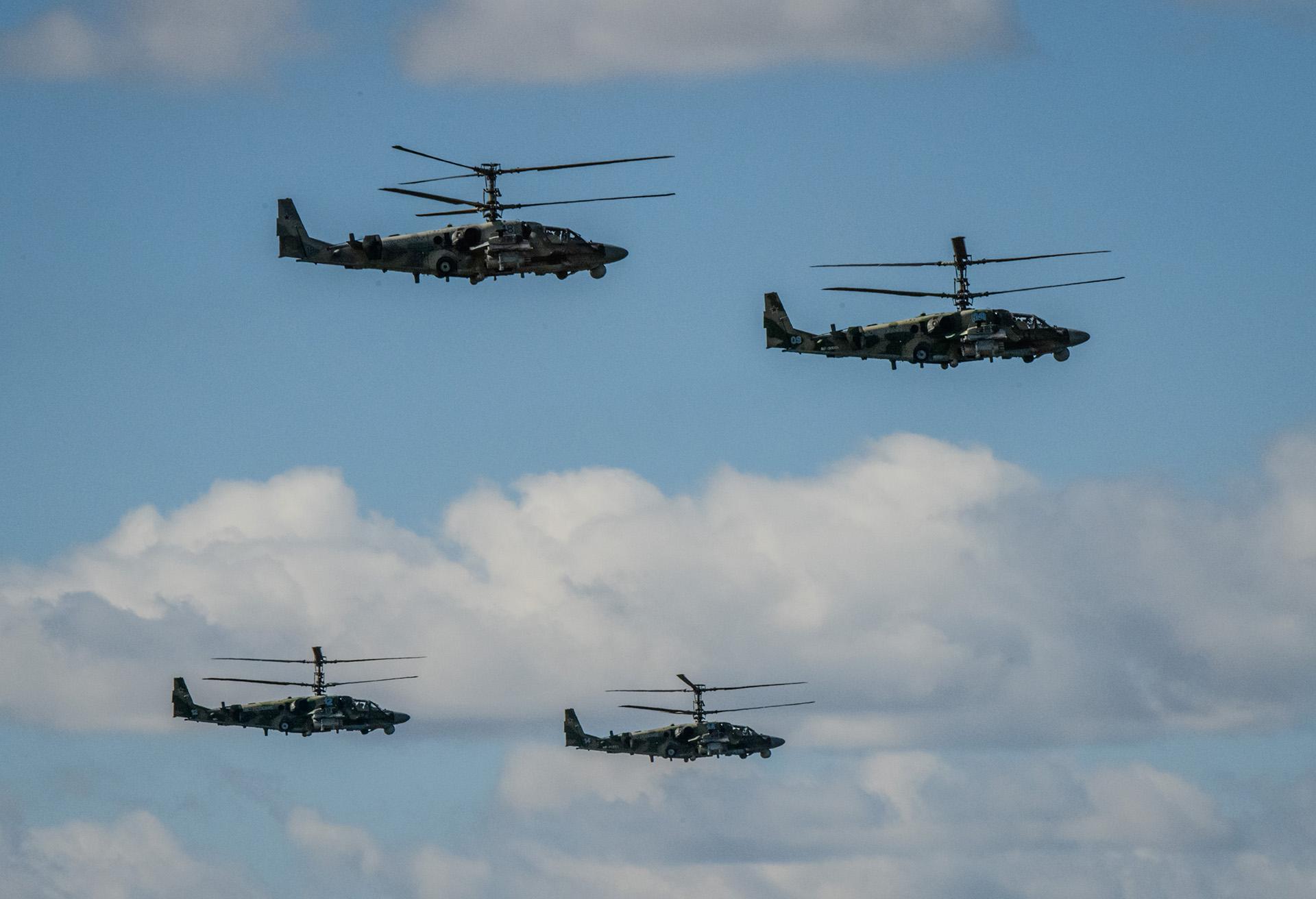Cuatro helicópteros de ataque Kamov Ka-52