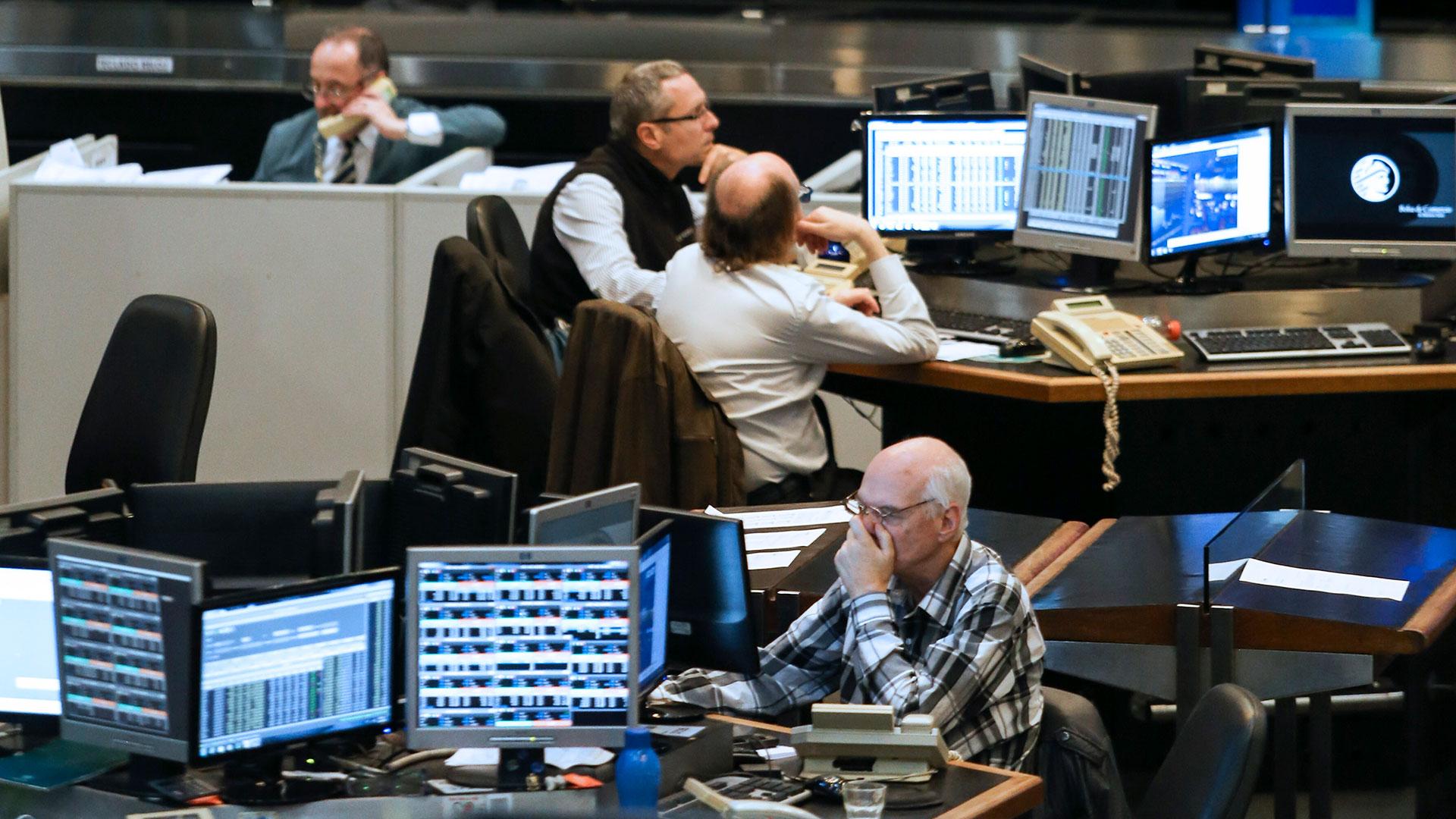 Inquietud en la Bolsa de Comercio de Buenos Aires. (NA)