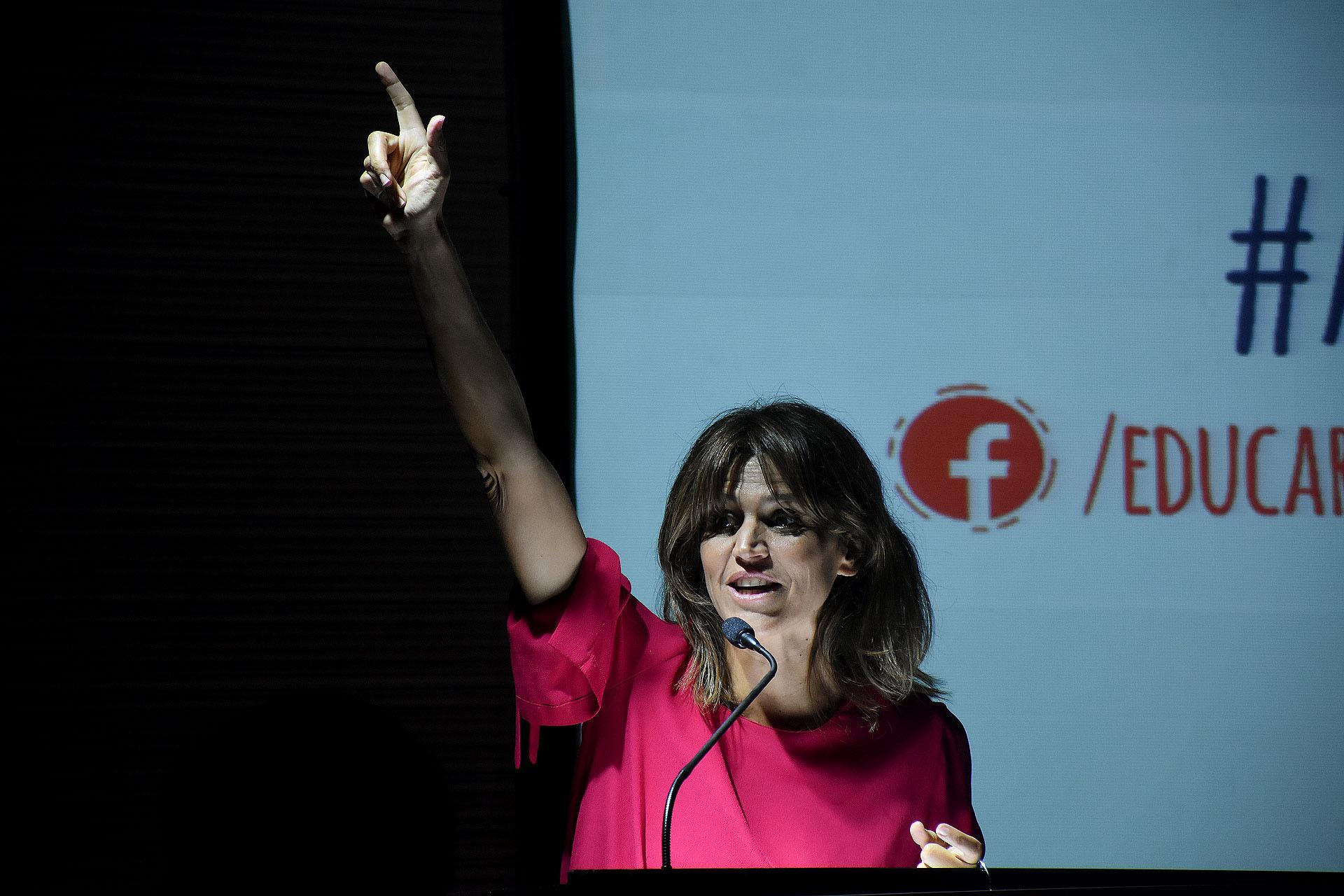 La conducción del evento estuvo a cargo de María Freytes