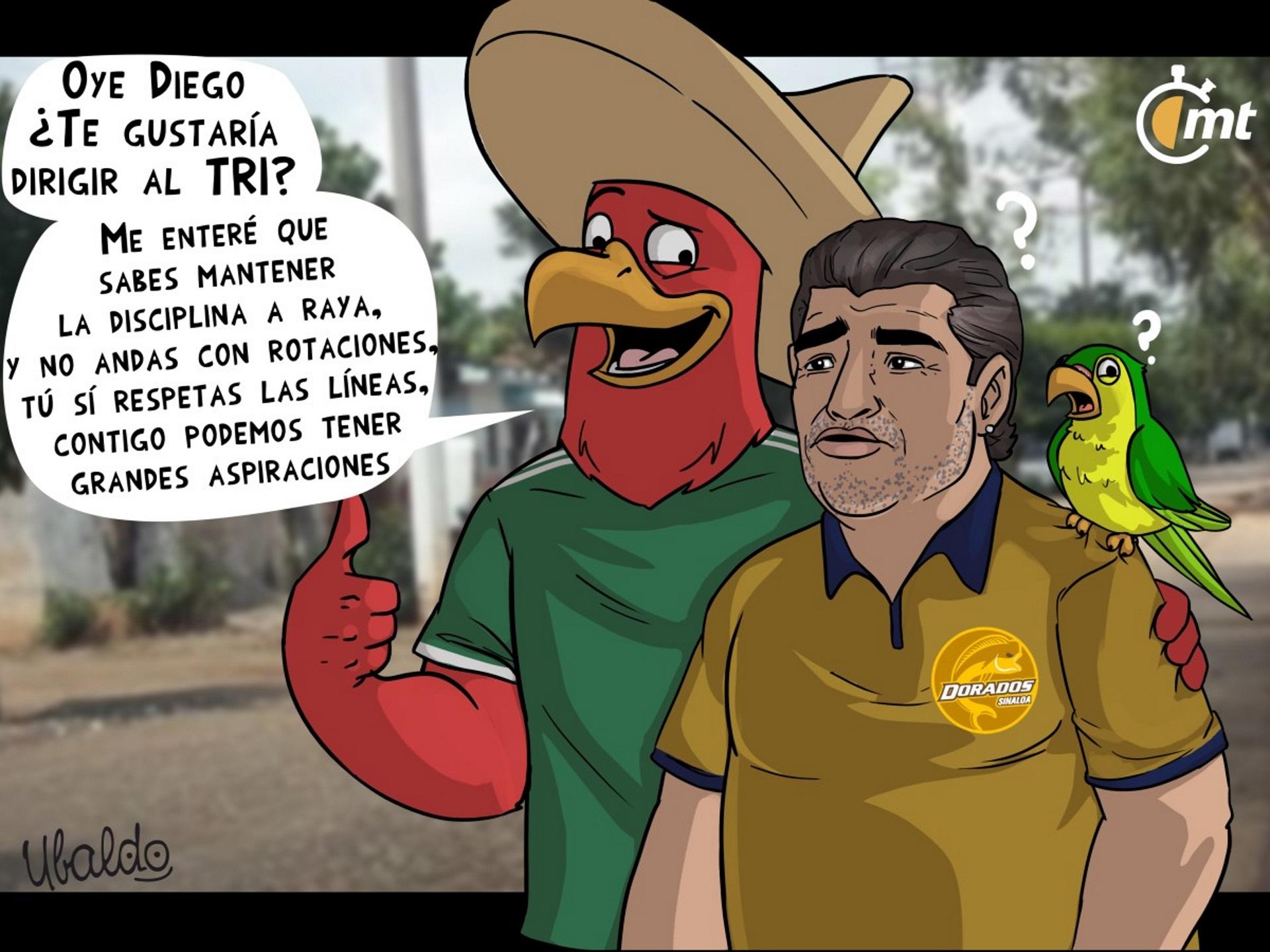 La dura caricatura de un medio mexicano sobre Diego Maradona y su pasado con las drogas