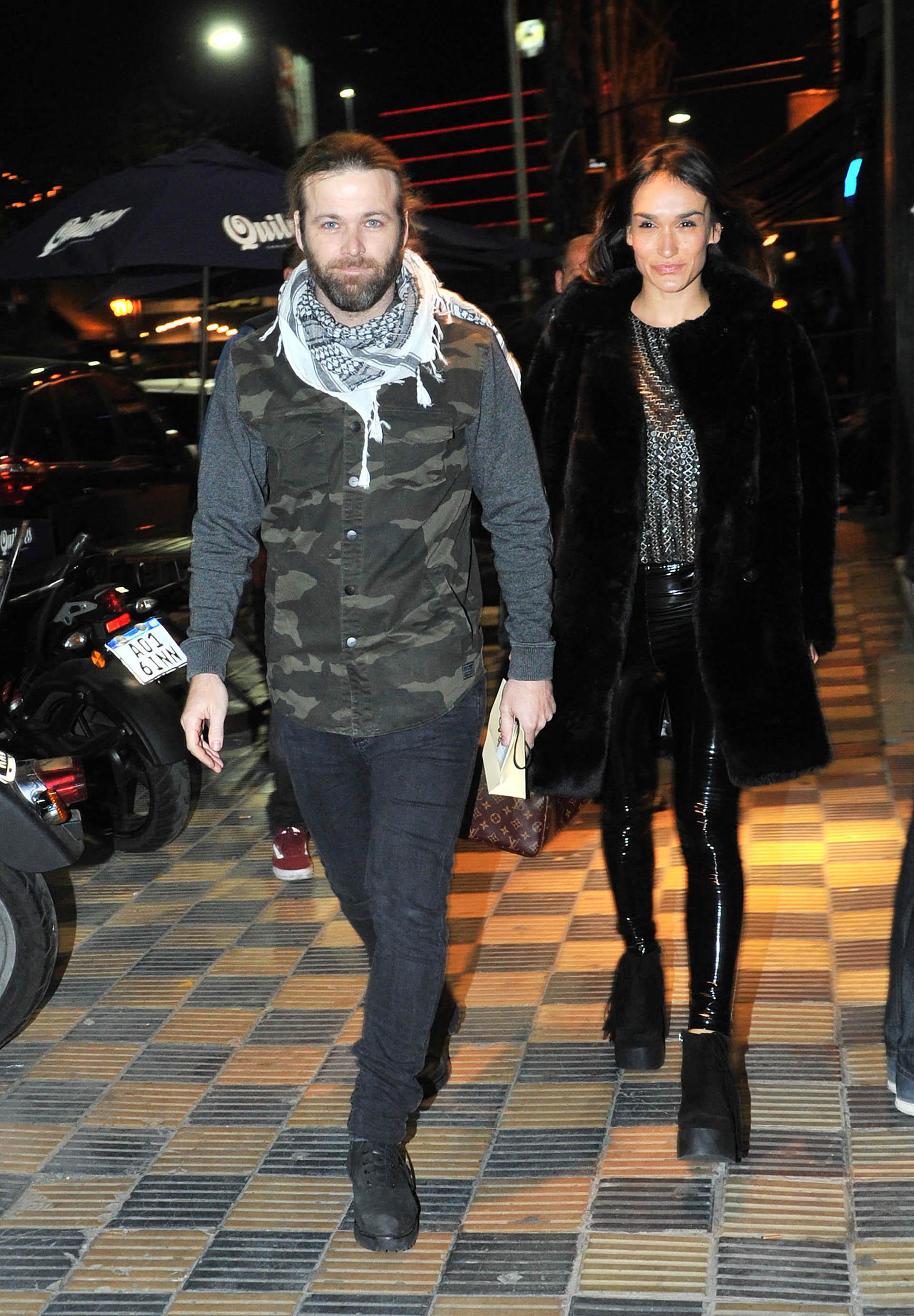 Benjamín Amadeo y su novia, Martina