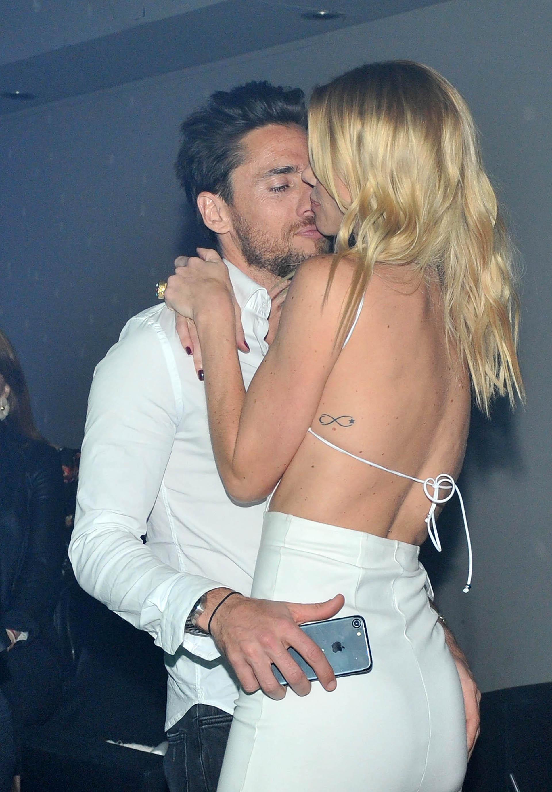 Nicole y su novio, Matías Tasín, no pararon de mimarse durante toda la fiesta