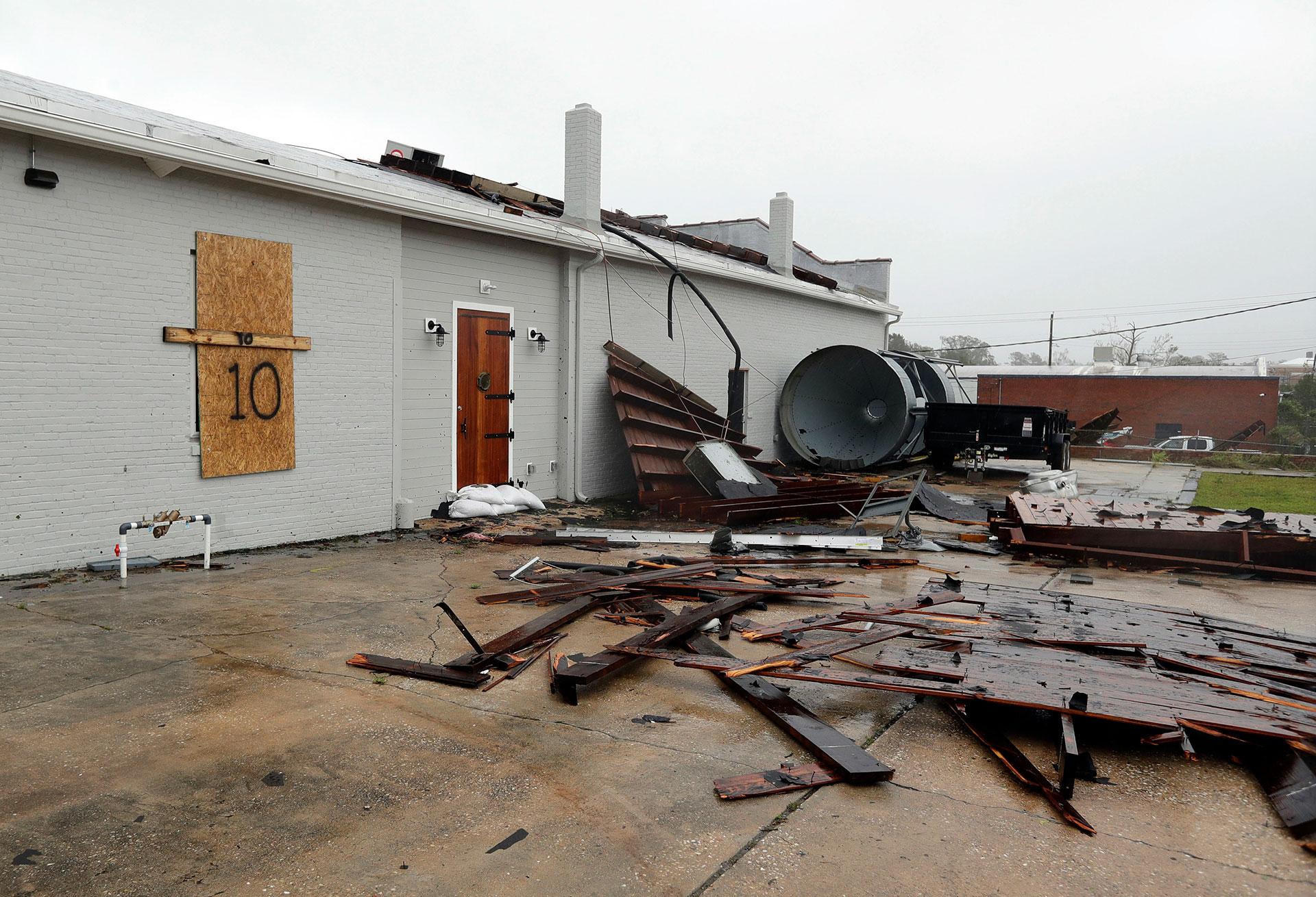 Los destrozos que dejó el paso del huracán (AP)