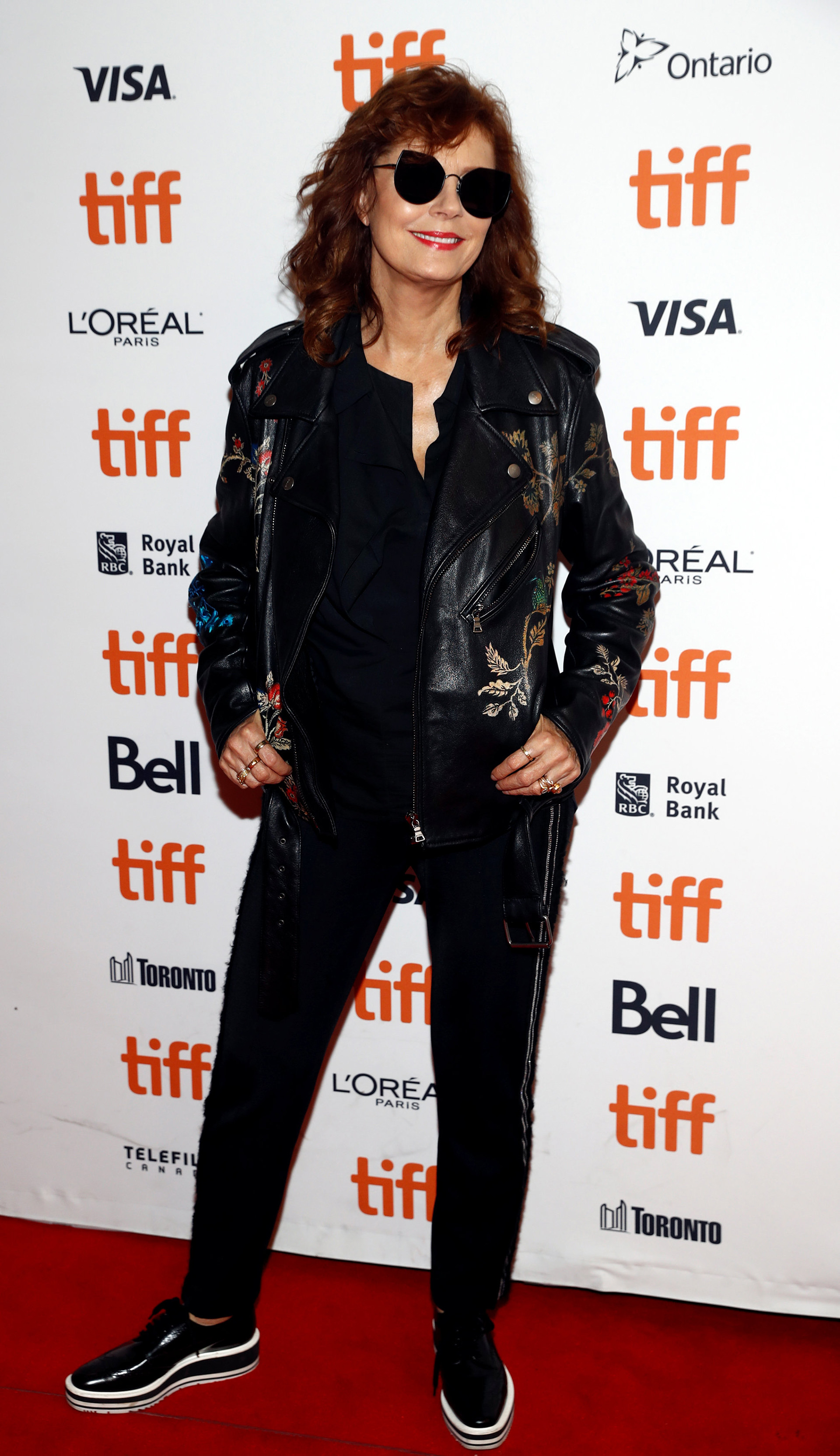 Susan Sarandon y el estilo más canchero de la red carpet