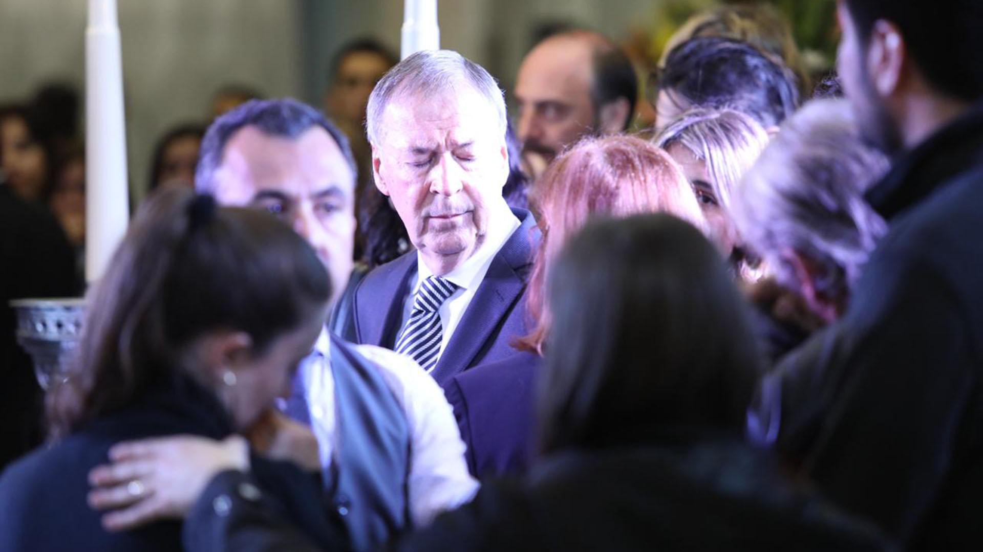 Al gobernador cordobés Juan Schiaretti se lo vio profundamente conmovido