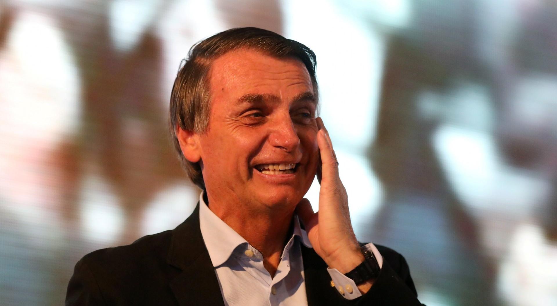 Jair Bolsonaro, en un evento antes del ataque (Reuters)