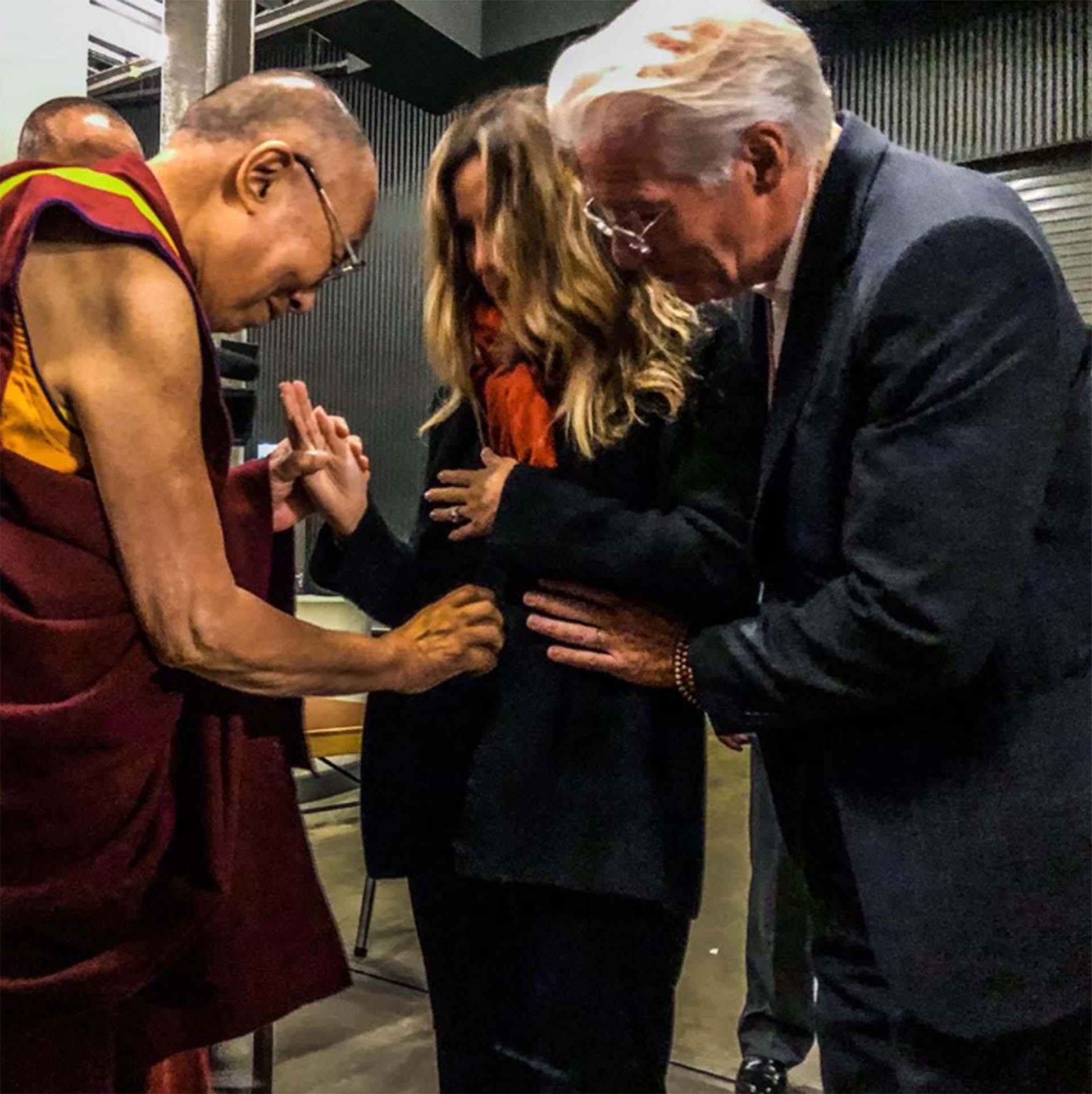 Alejandra Silva y Richard Gere recibieron la bendición del Dalai Lama