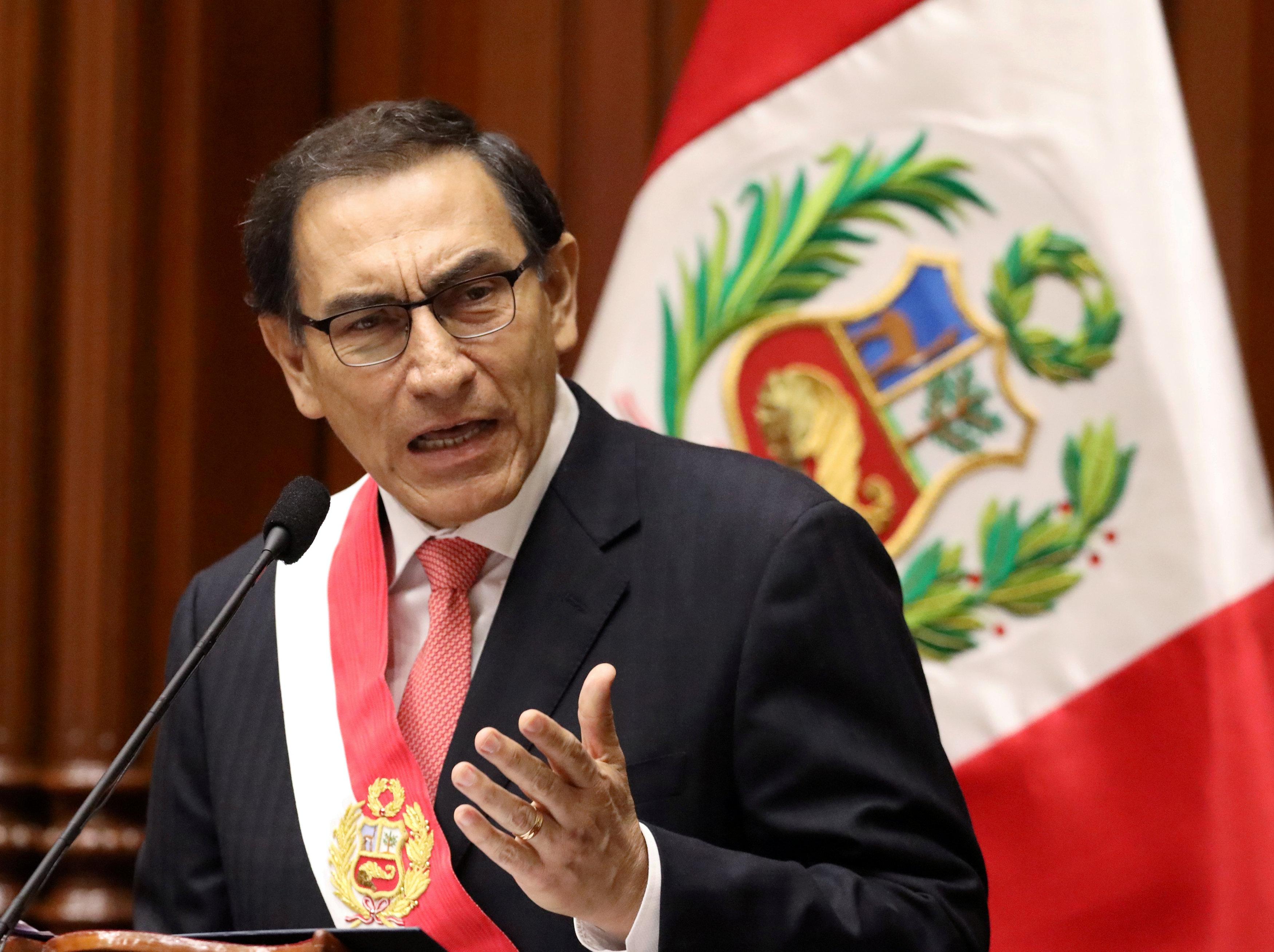 El presidente peruano Martín Vizcarra (REUTERS/Mariana Bazo/archivo)