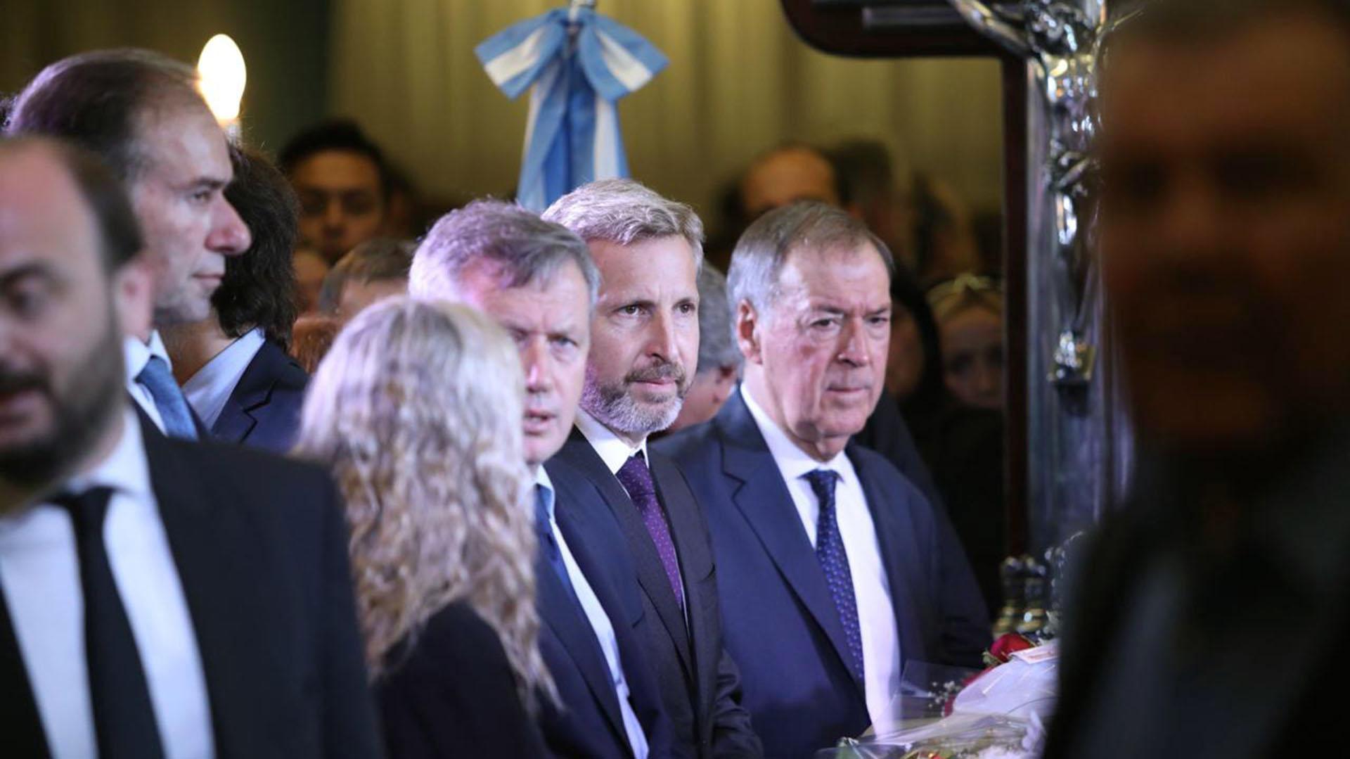 El ministro del Interior, Rogelio Frigerio, viajó en representación del presidente Mauricio Macri a los homenajes