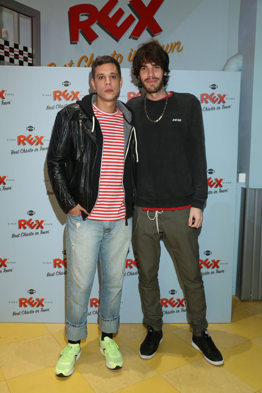 Ludovico Di Santo y el DJ Manuel Desrets, uno de los encargados de ponerle música al evento