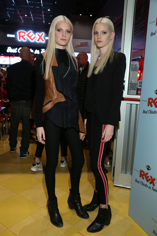 Las modelos Lourdes y Abril Ruhaller en el local de Palermo que presentó, además, una renovada carta gastronómica