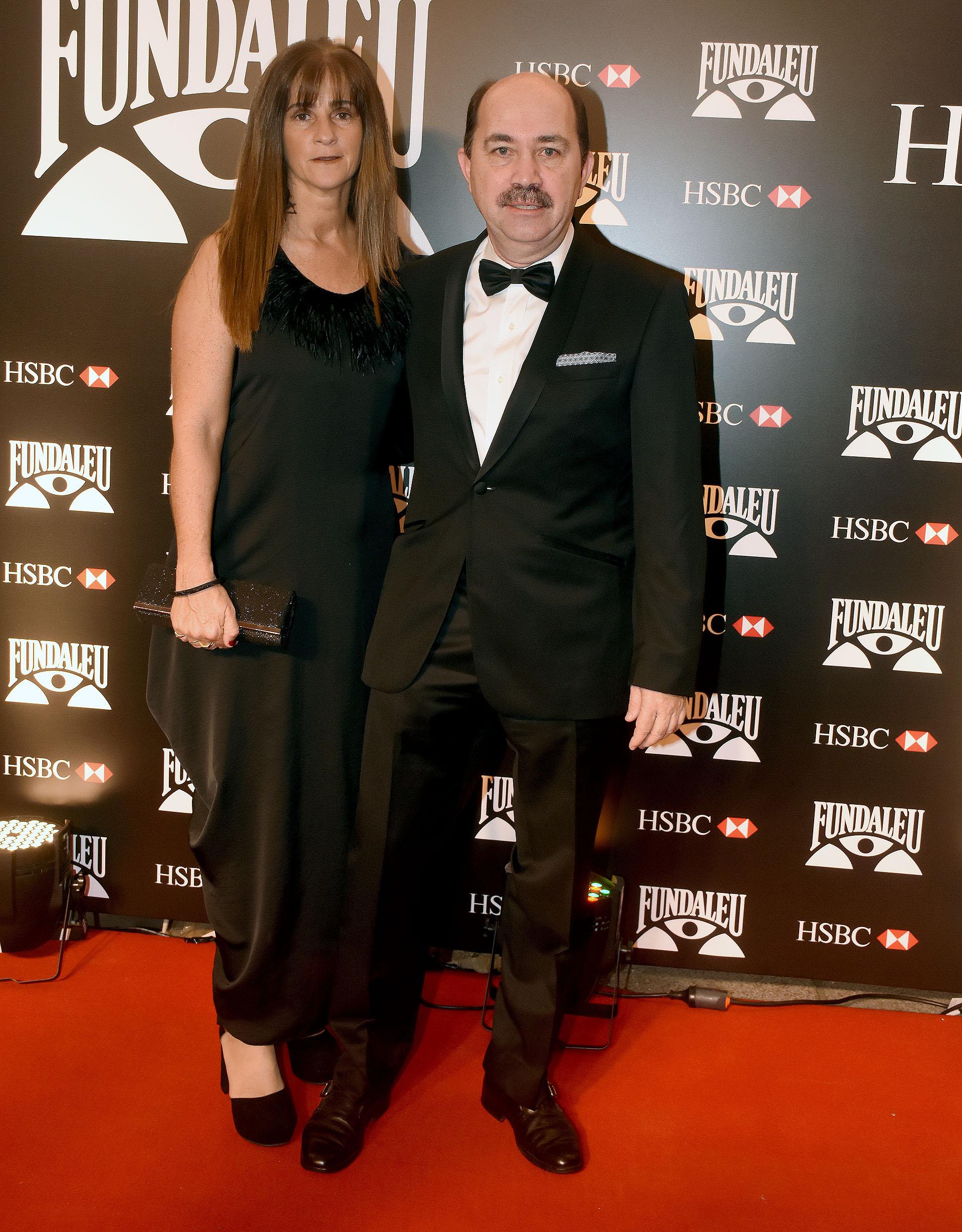 El presidente del Banco Ciudad, Javier Ortiz Batalla, y su mujer Carla