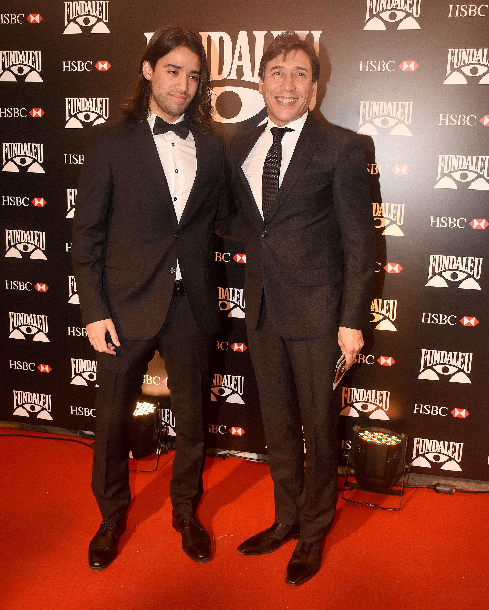 Fabián Gianola y su hijo
