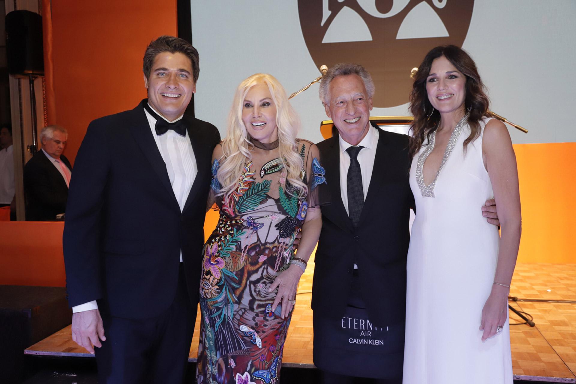 Guillermo Andino, Susana Giménez, Quique Wolff y Andrea Frigerio