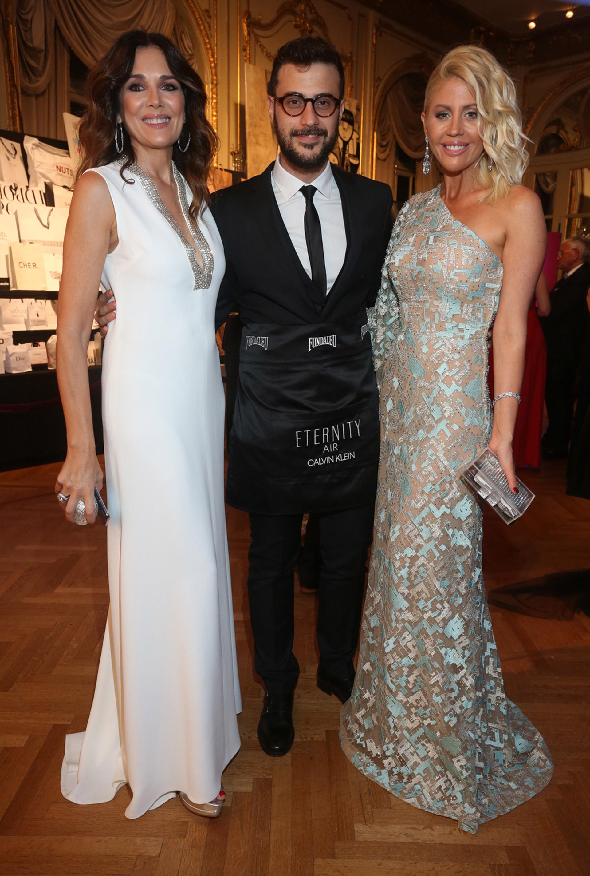 Andrea Frigerio, Diego Leuco y Barbie Simmons